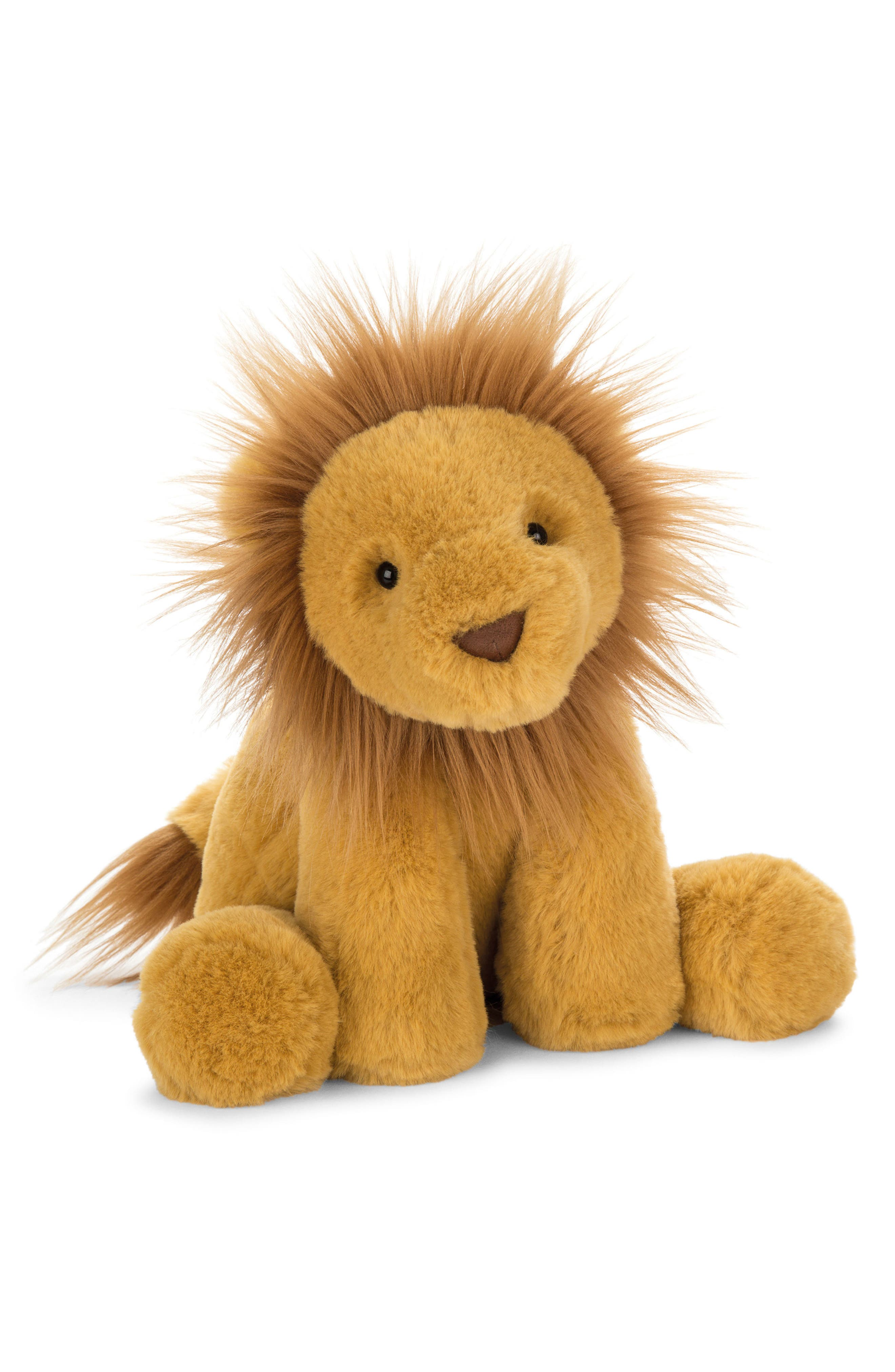Smudge Lion Stuffed Animal,                             Main thumbnail 1, color,                             YELLOW