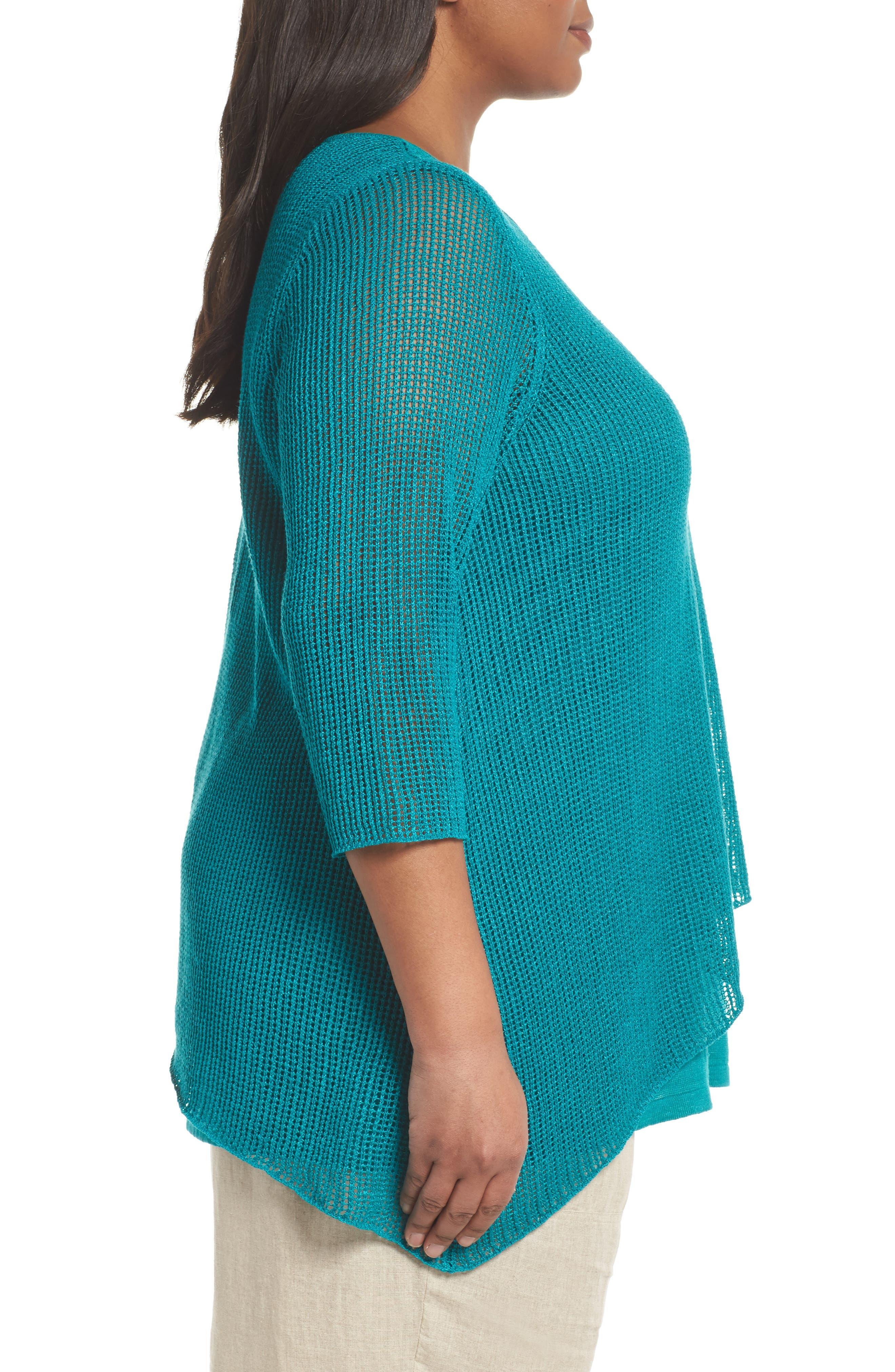 Layered Organic Linen Tunic Sweater,                             Alternate thumbnail 10, color,
