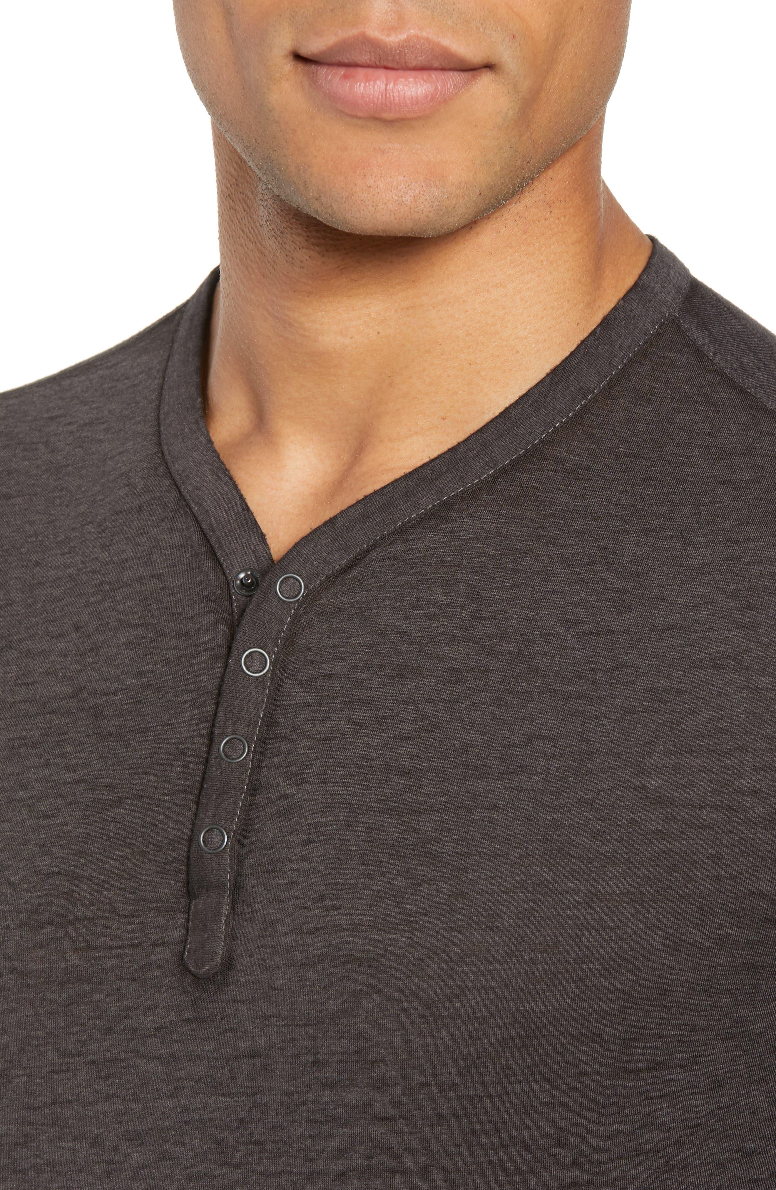 Burnout Henley T-Shirt,                             Alternate thumbnail 4, color,                             020