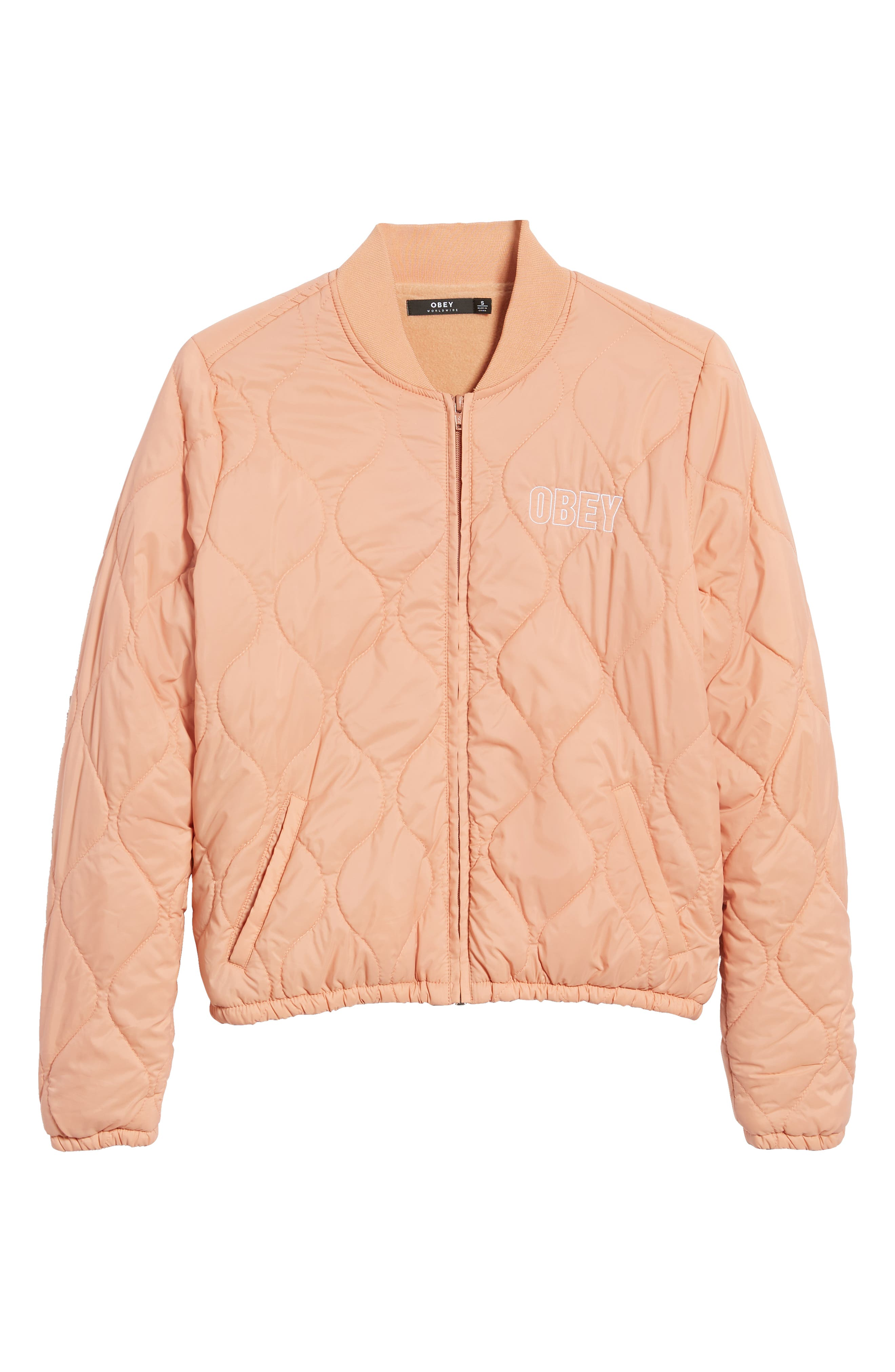 OBEY,                             Bunker Quilted Bomber Jacket,                             Alternate thumbnail 6, color,                             950