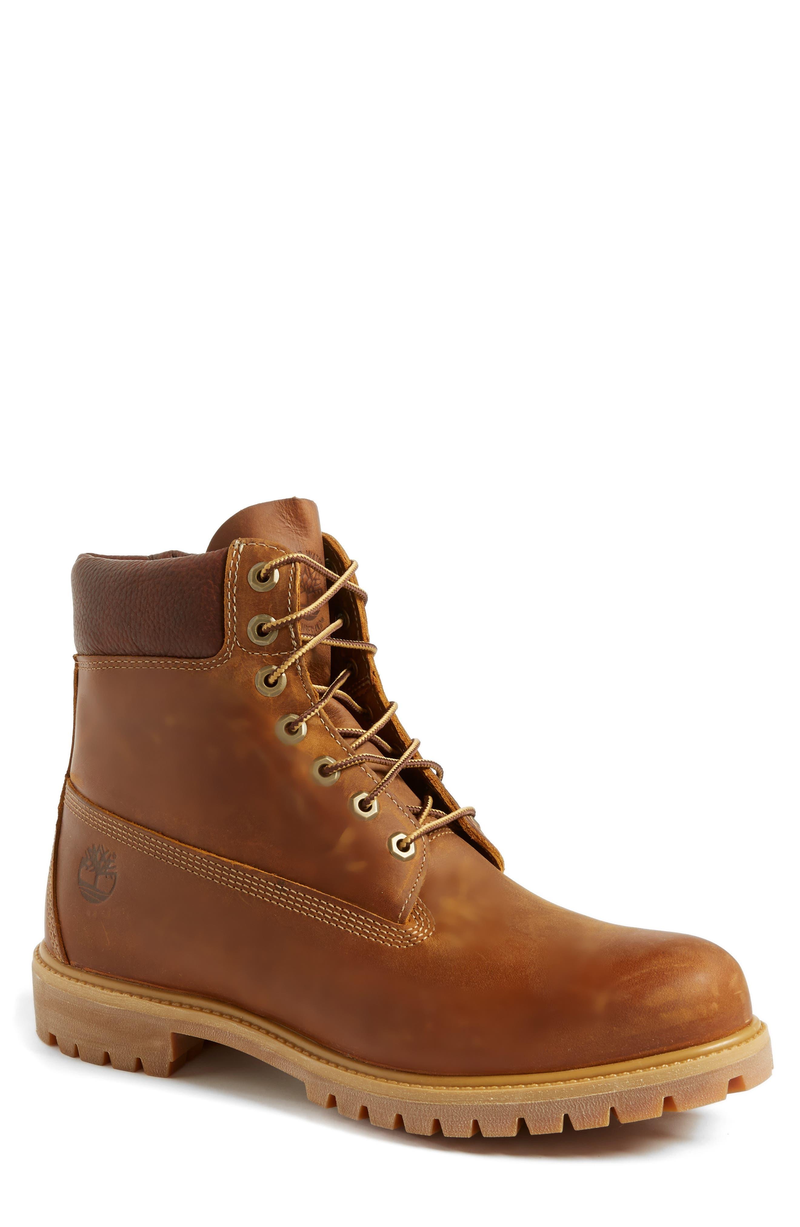 'Premium Heritage' Round Toe Boot,                         Main,                         color, 214