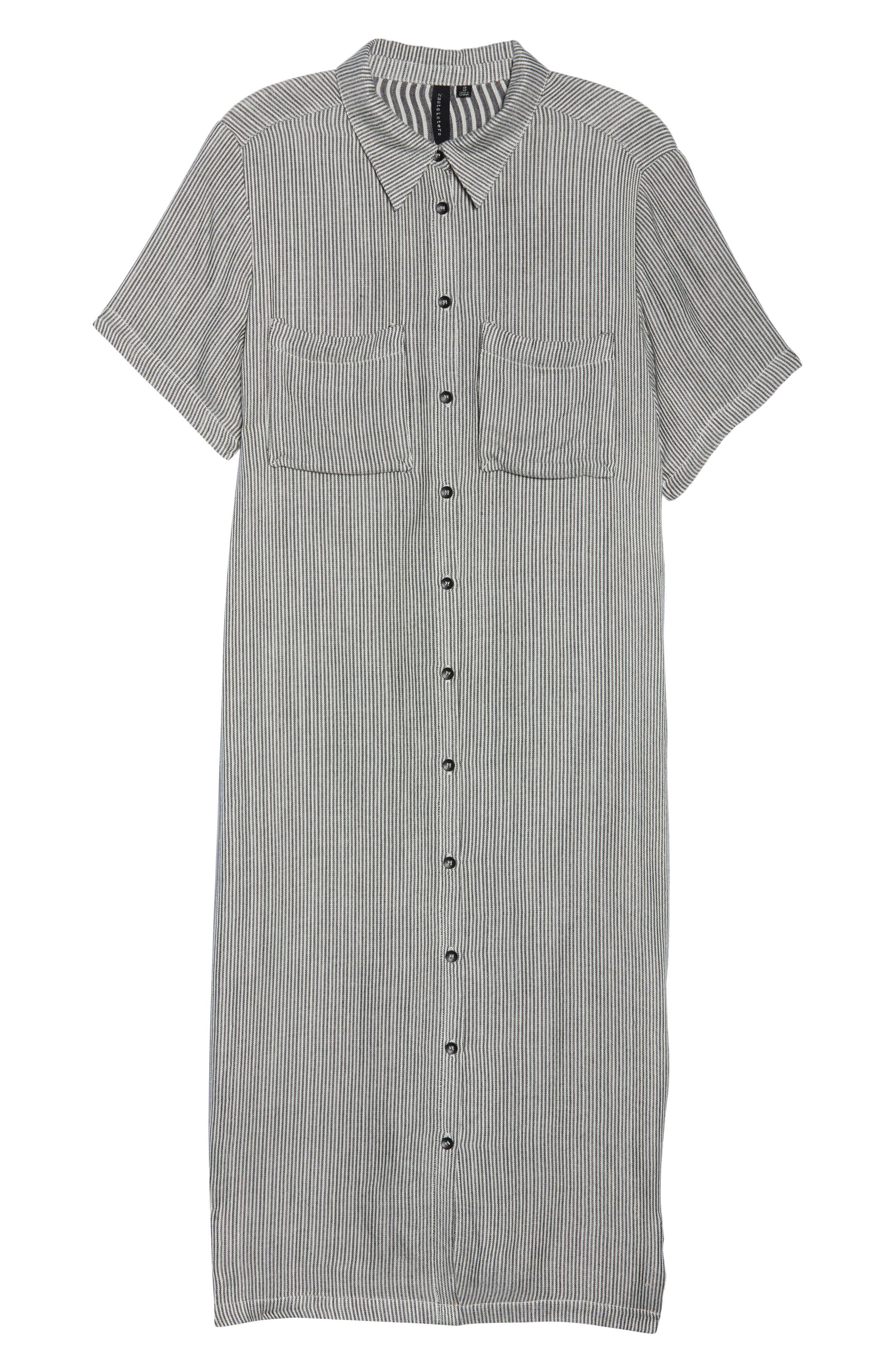 Ruffle Sleeve Shift Dress,                             Alternate thumbnail 7, color,                             400