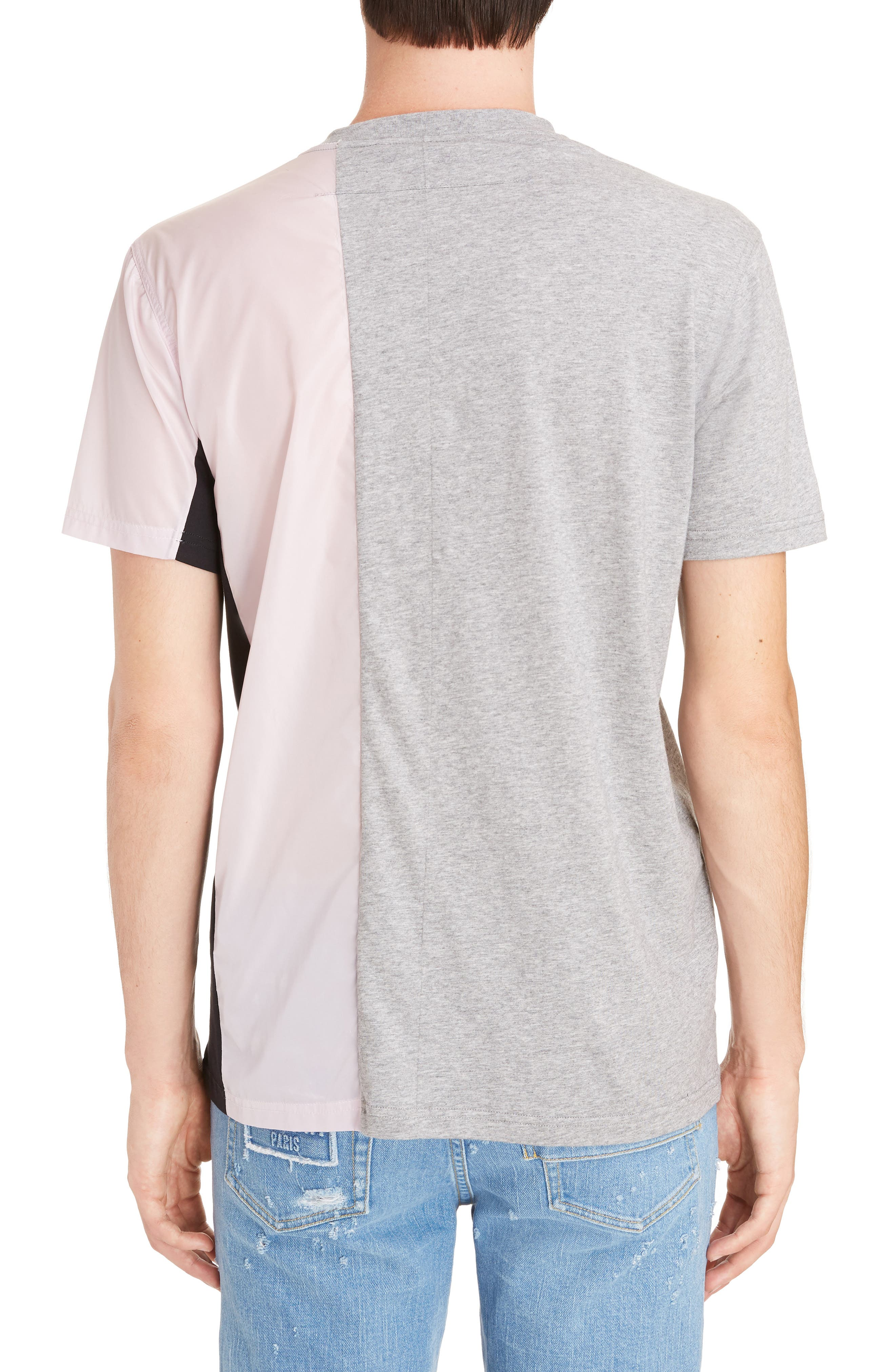 Bimaterial Colorblock T-Shirt with Zip Detail,                             Alternate thumbnail 2, color,