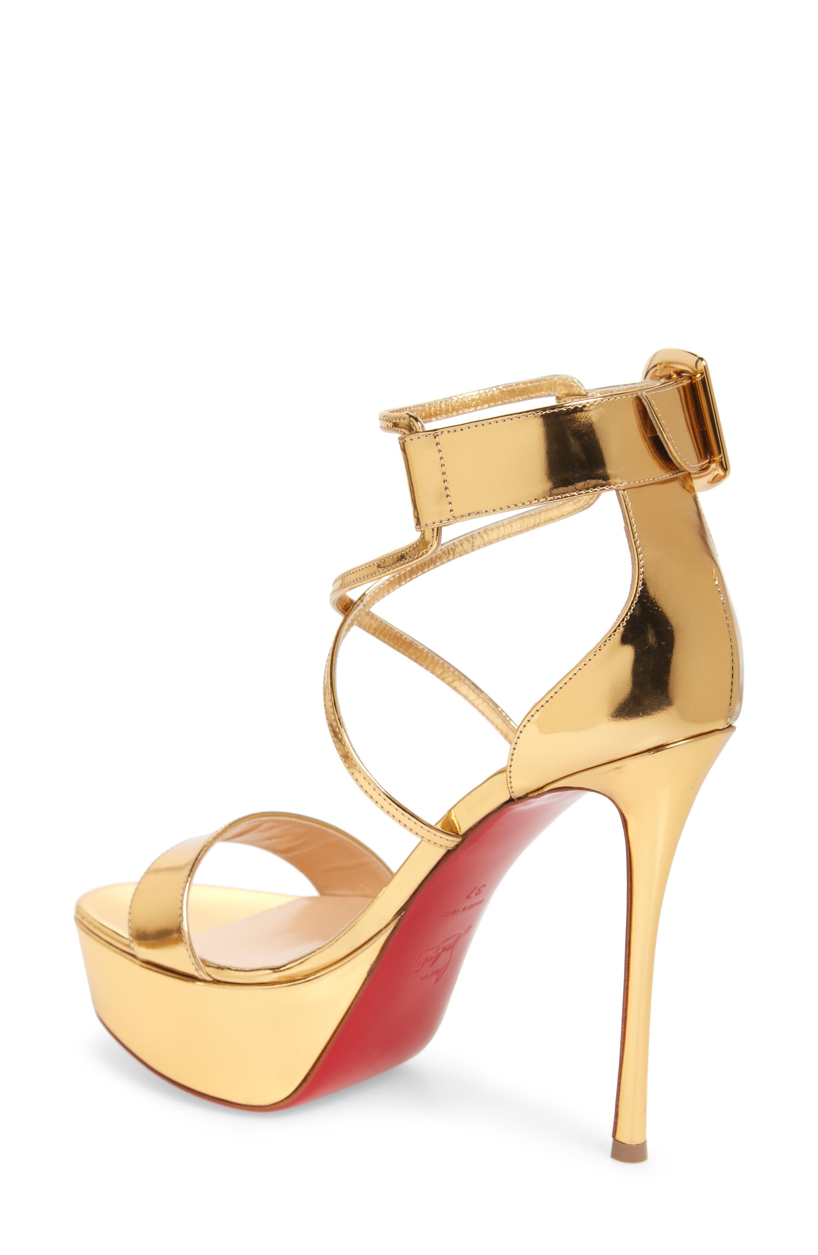 Choca Platform Sandal,                             Alternate thumbnail 2, color,                             GOLD