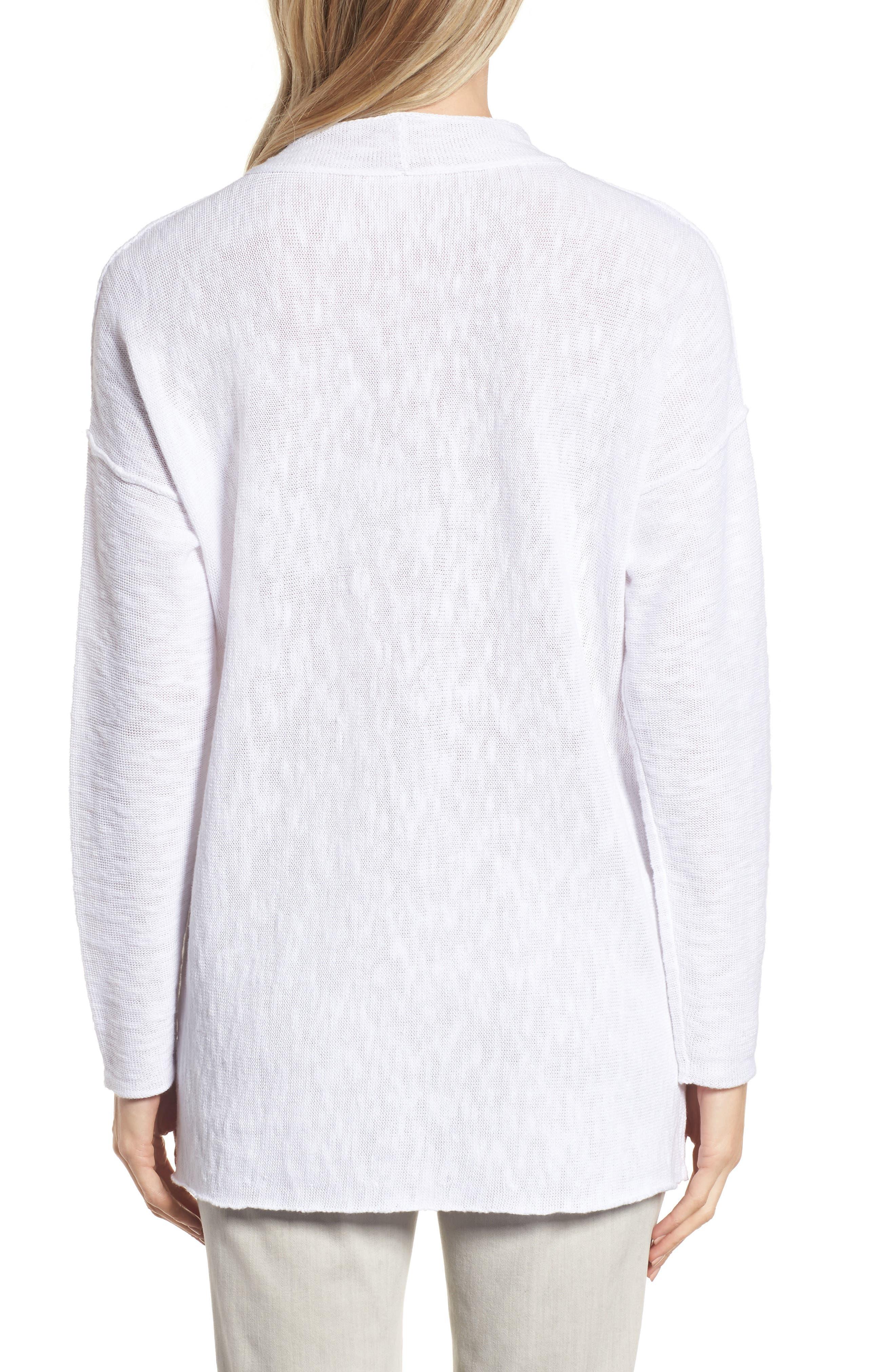 Organic Linen & Cotton Sweater,                             Alternate thumbnail 2, color,                             100