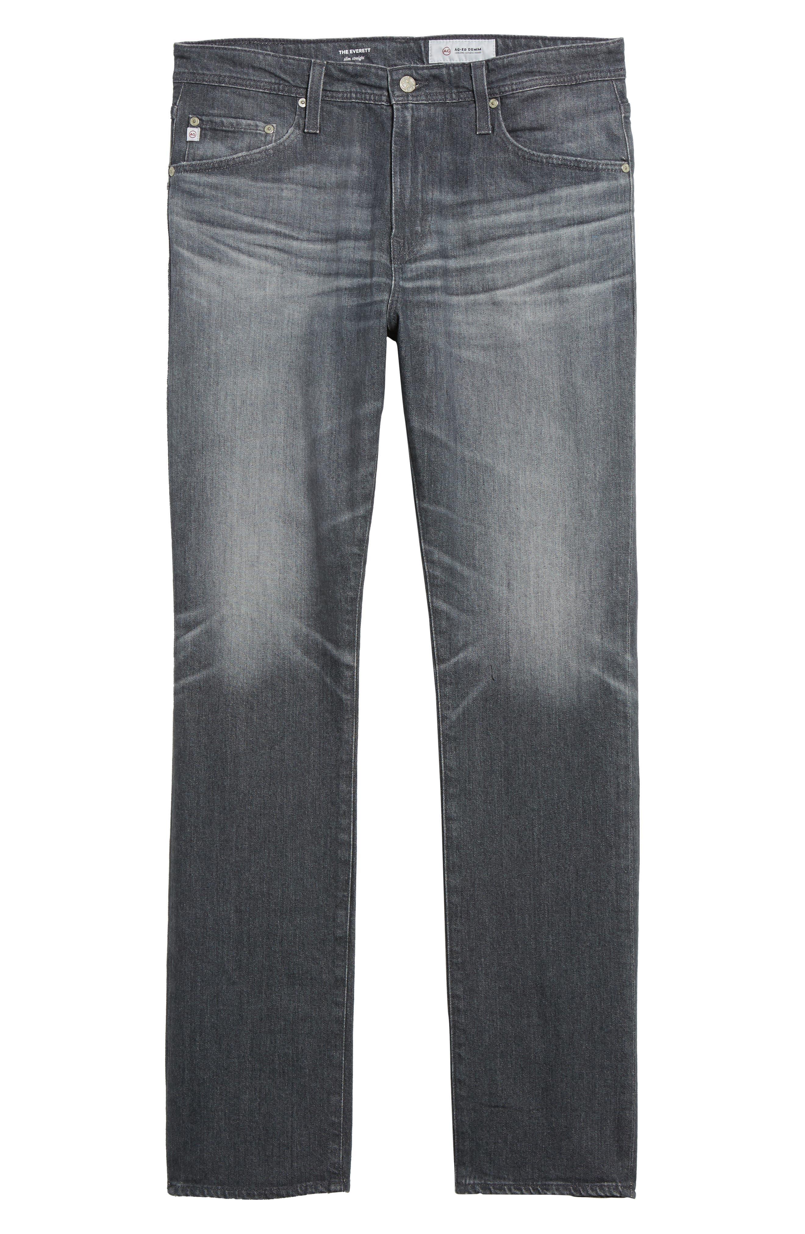 Everett Slim Straight Leg Jeans,                             Alternate thumbnail 6, color,                             023