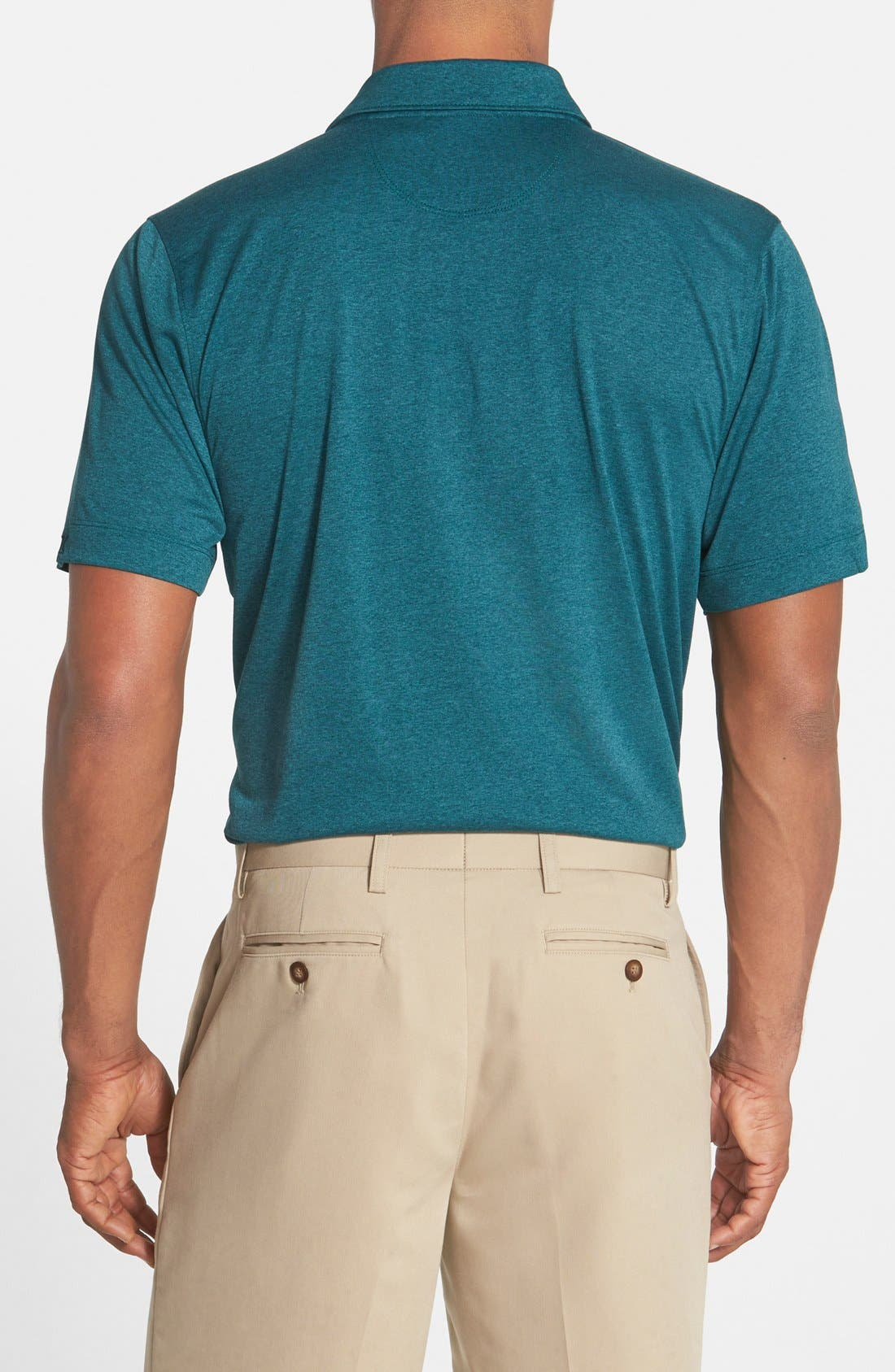 'Chelan' DryTec Polo,                             Alternate thumbnail 5, color,                             MIDNIGHT GREEN HEATHER