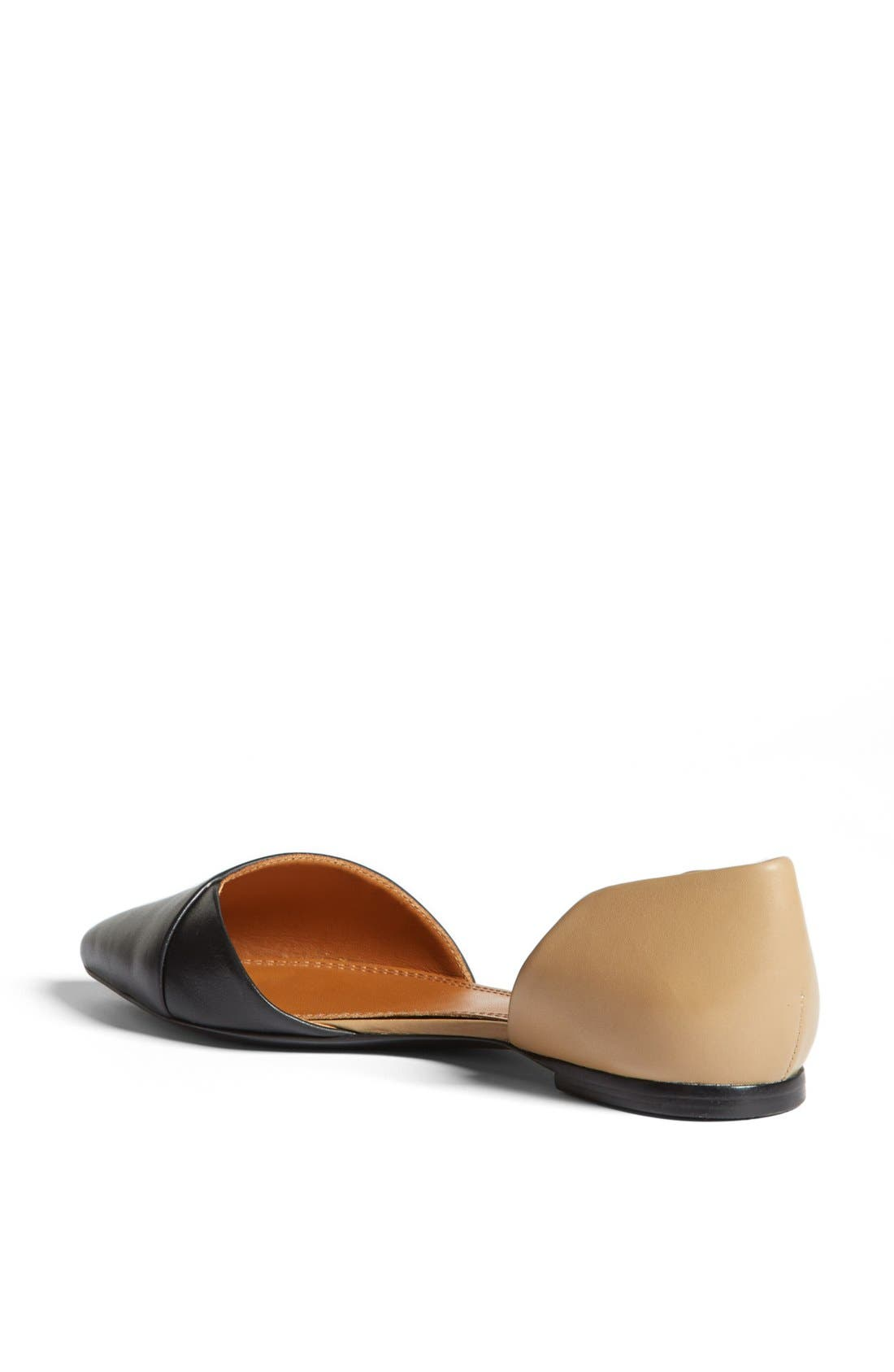 TORY BURCH,                             Leather Flat,                             Alternate thumbnail 2, color,                             008