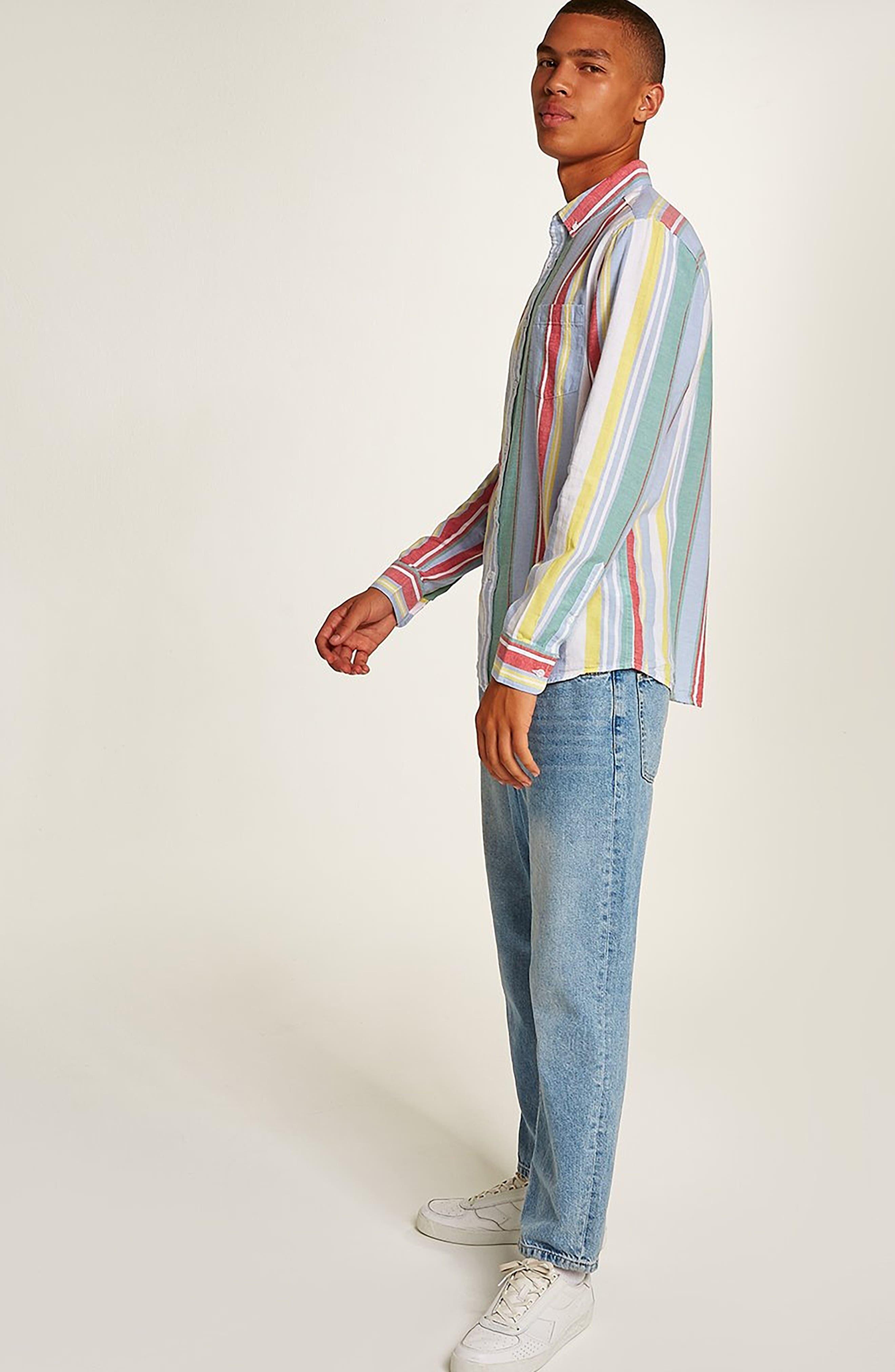 Candy Stripe Shirt,                             Alternate thumbnail 5, color,                             100