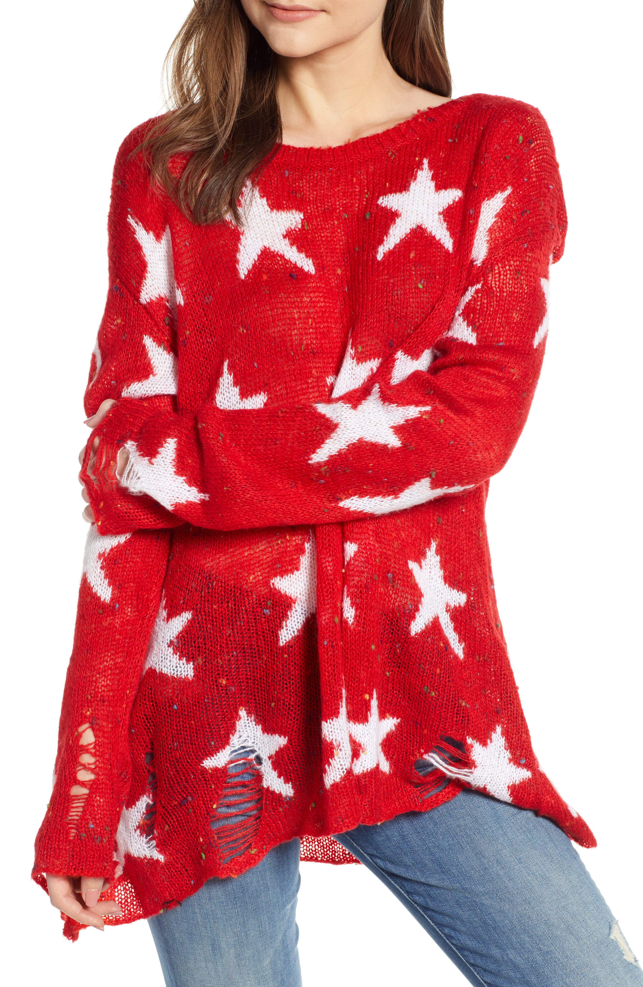Seeing Stars Lennon Sweater,                         Main,                         color, 620