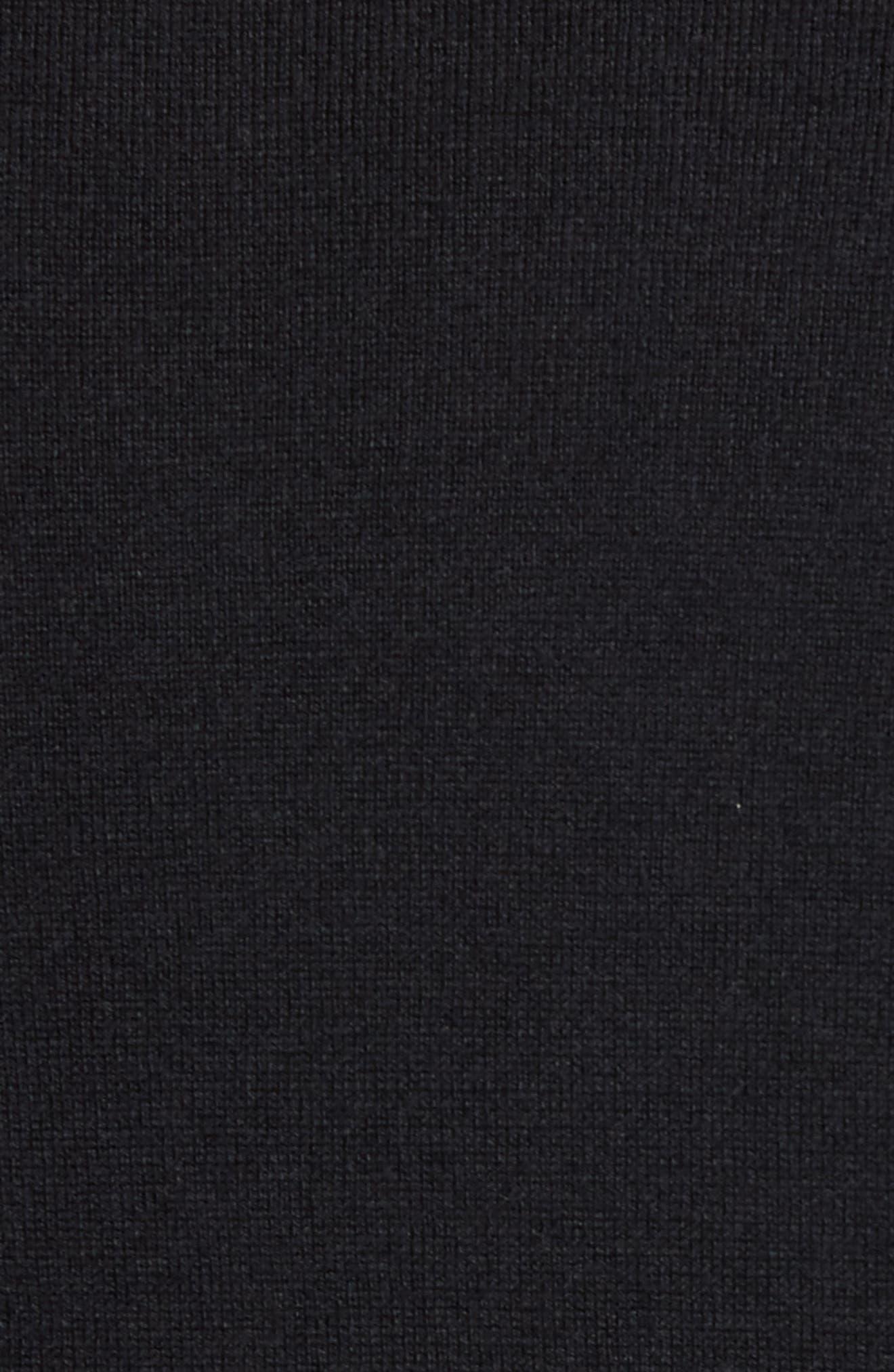 Kayfed Rib Sleeve Sweater,                             Alternate thumbnail 5, color,                             001
