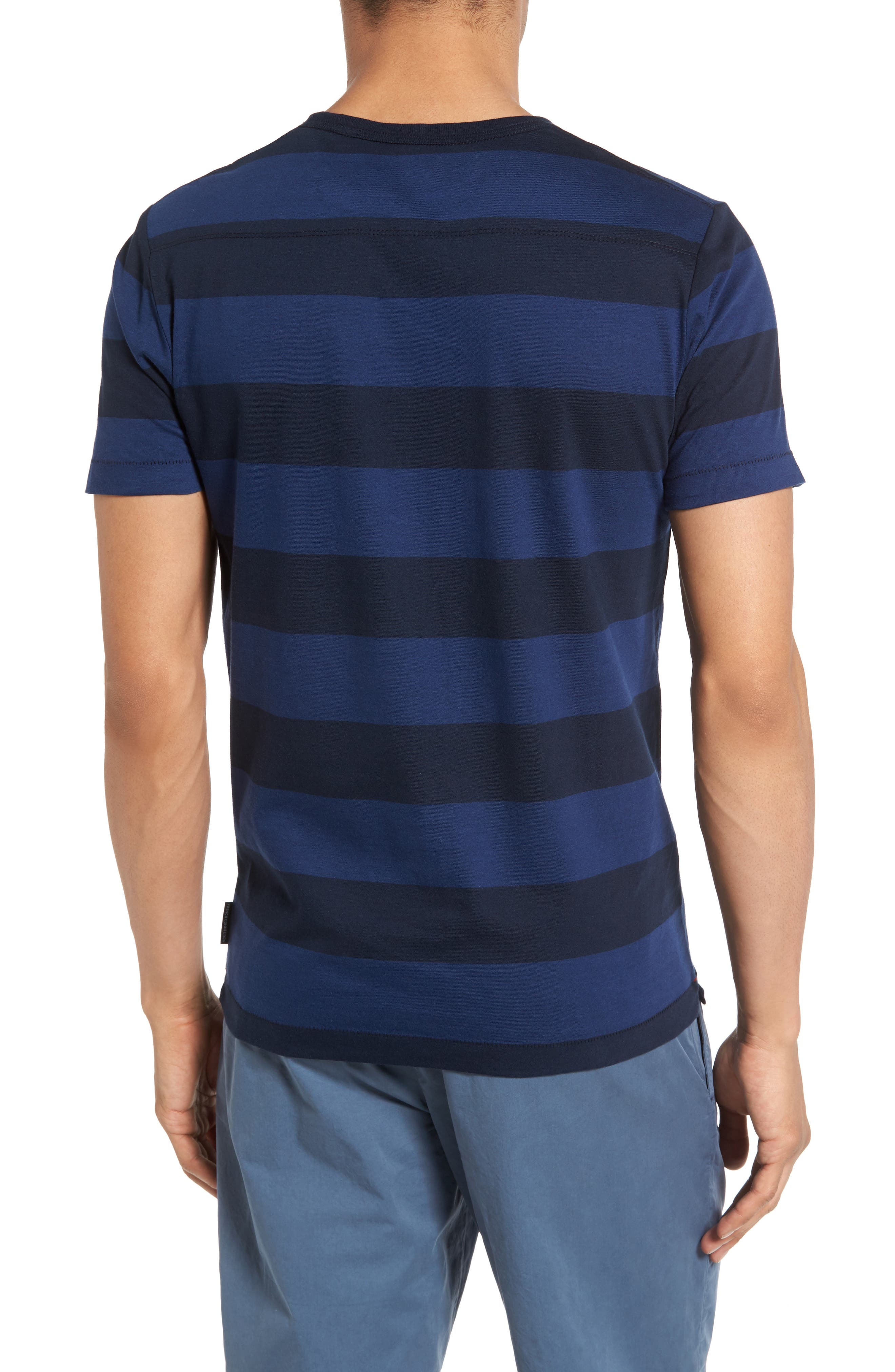 Varsity View Stripe Slim T-Shirt,                             Alternate thumbnail 2, color,                             415