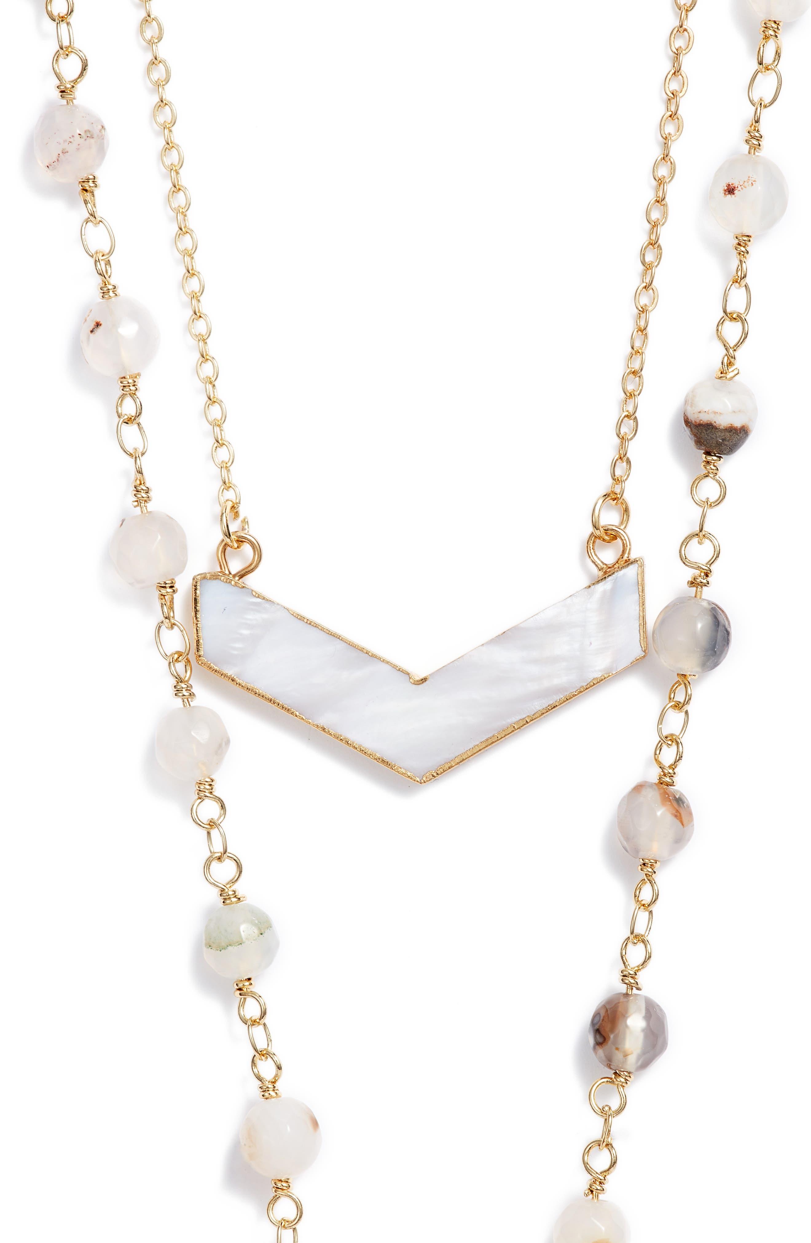 Julia Double Strand Necklace,                             Alternate thumbnail 2, color,                             100