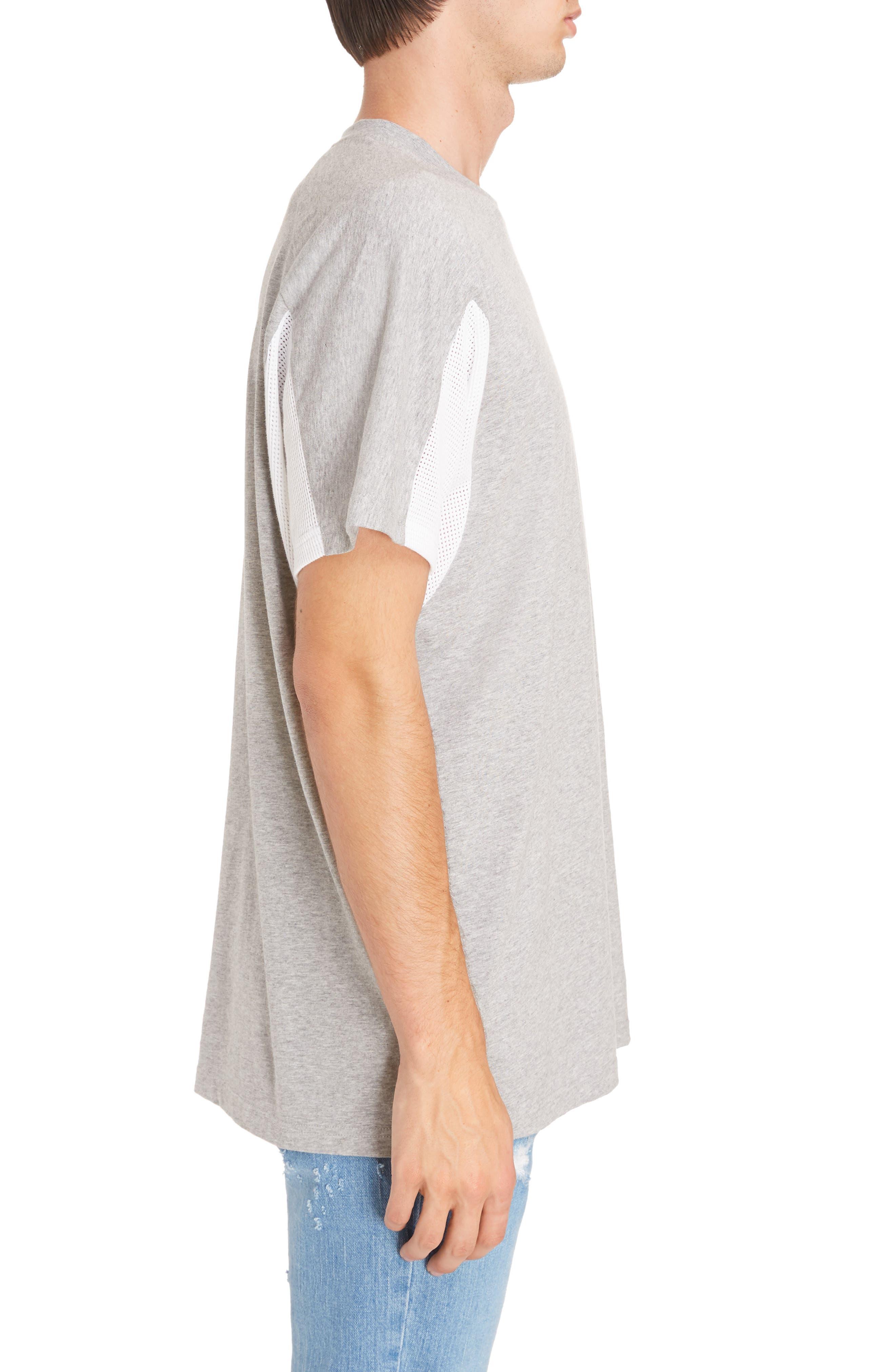 Mesh Jersey Crewneck T-Shirt,                             Alternate thumbnail 3, color,