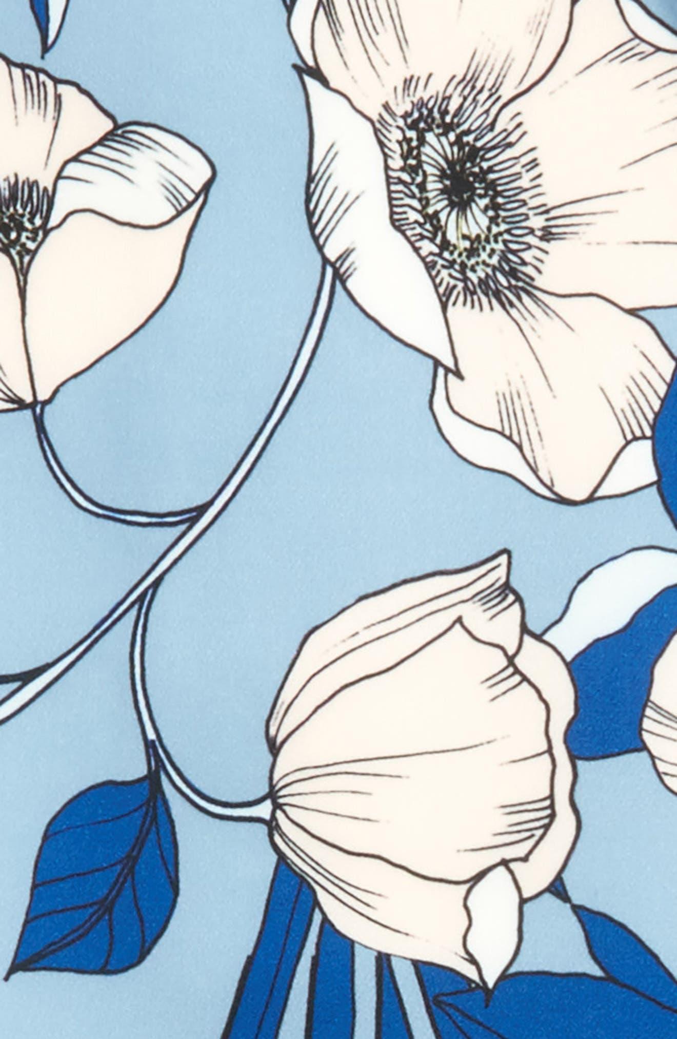 Maia Ruffle Cold Shoulder Top,                             Alternate thumbnail 3, color,                             470