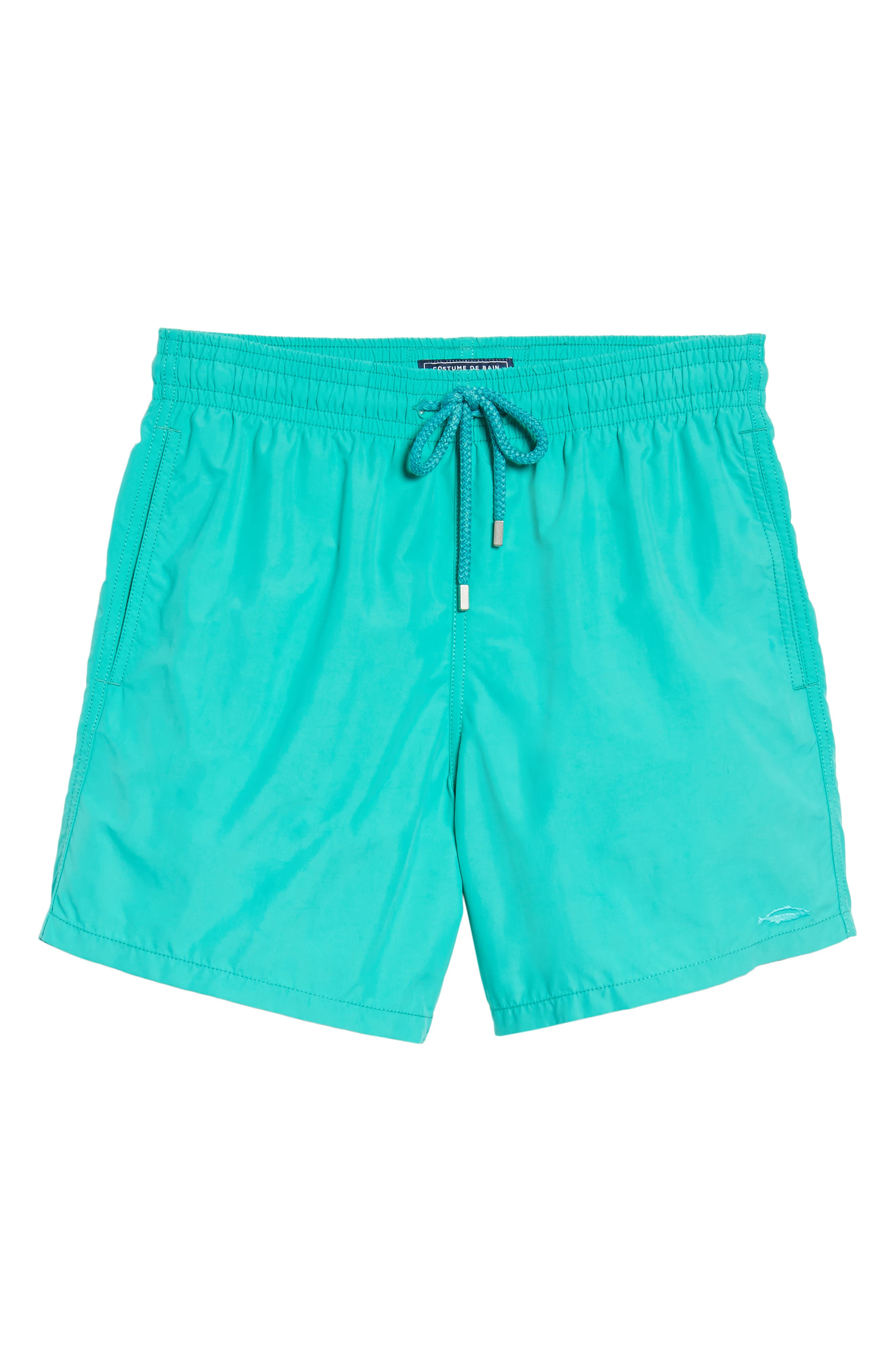 Sardine Water Reactive Swim Trunks,                             Alternate thumbnail 6, color,                             348