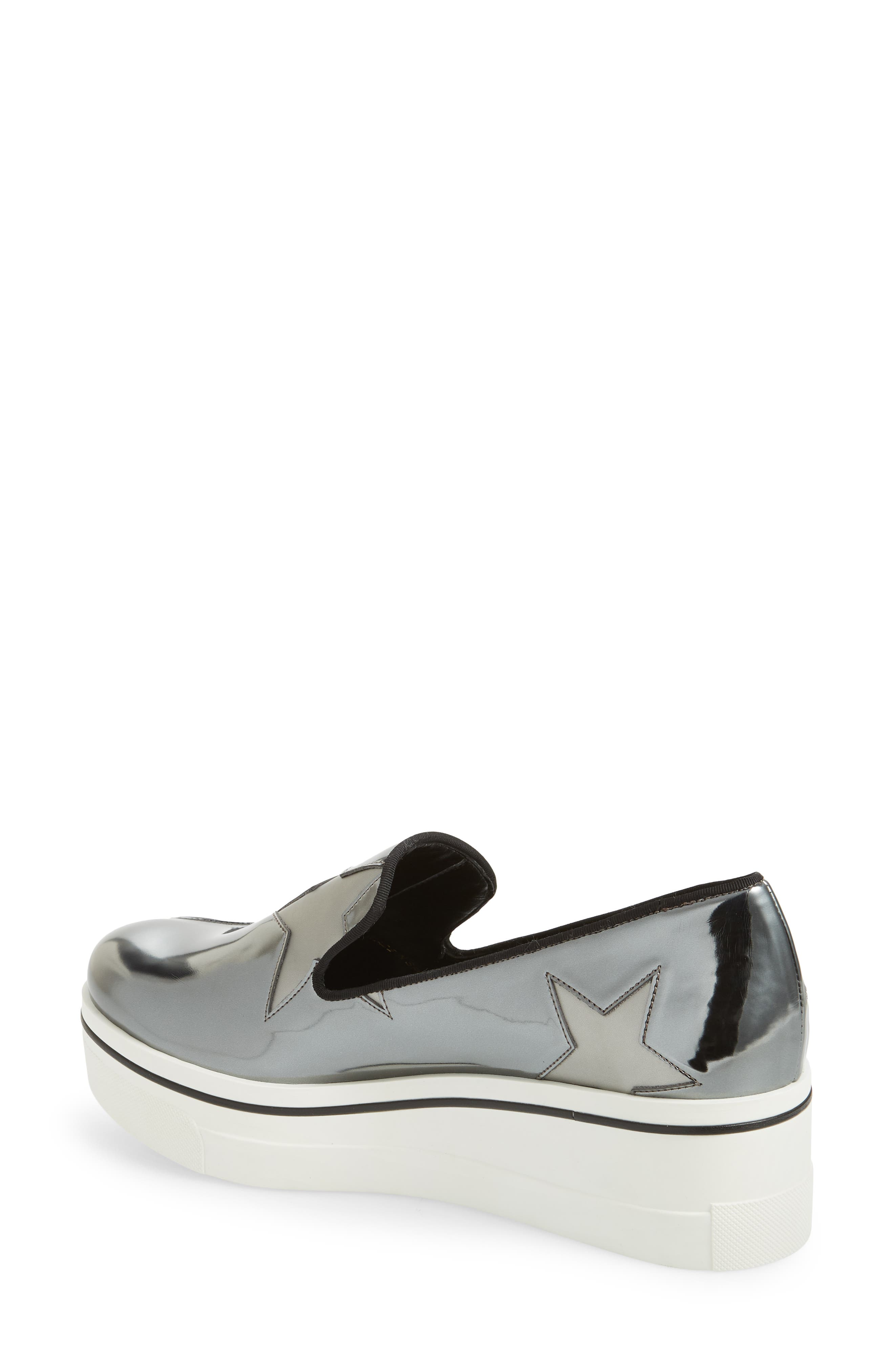 Binx Stars Platform Sneaker,                             Alternate thumbnail 2, color,                             ZINC