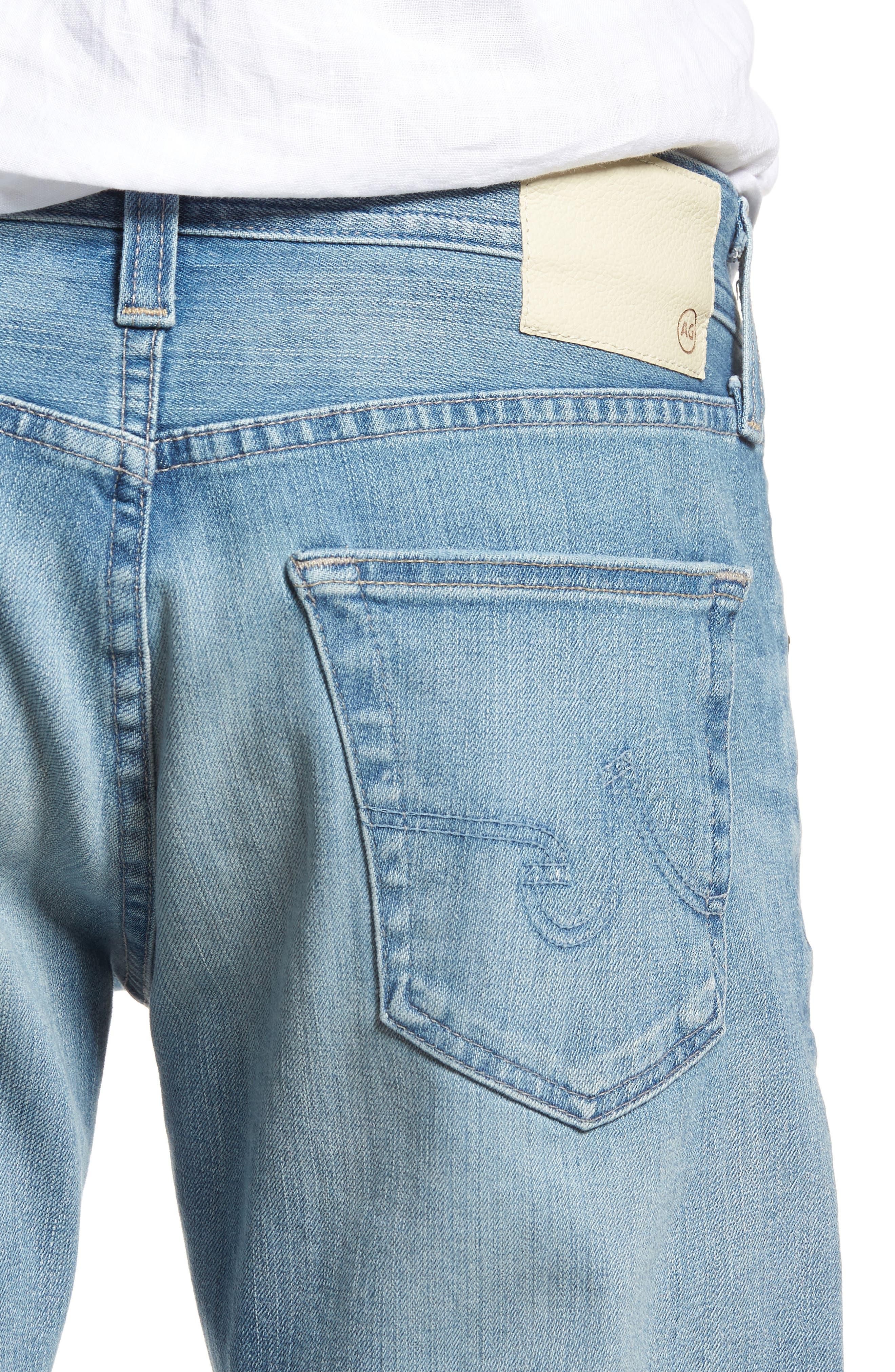 Graduate Slim Straight Leg Jeans,                             Alternate thumbnail 4, color,                             19 YEARS CHANNEL