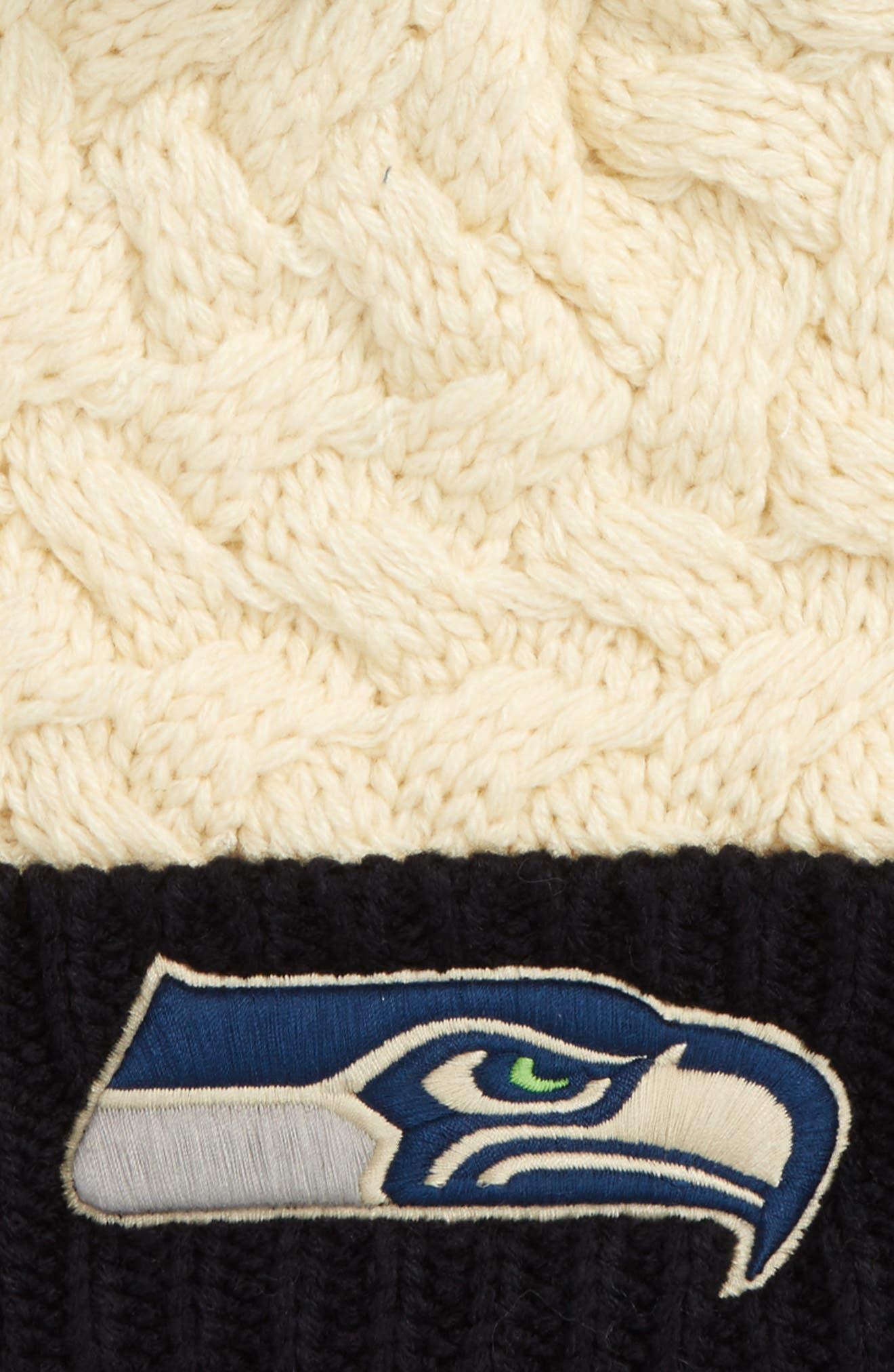 Matterhorn Seattle Seahawks Beanie,                             Alternate thumbnail 2, color,                             110