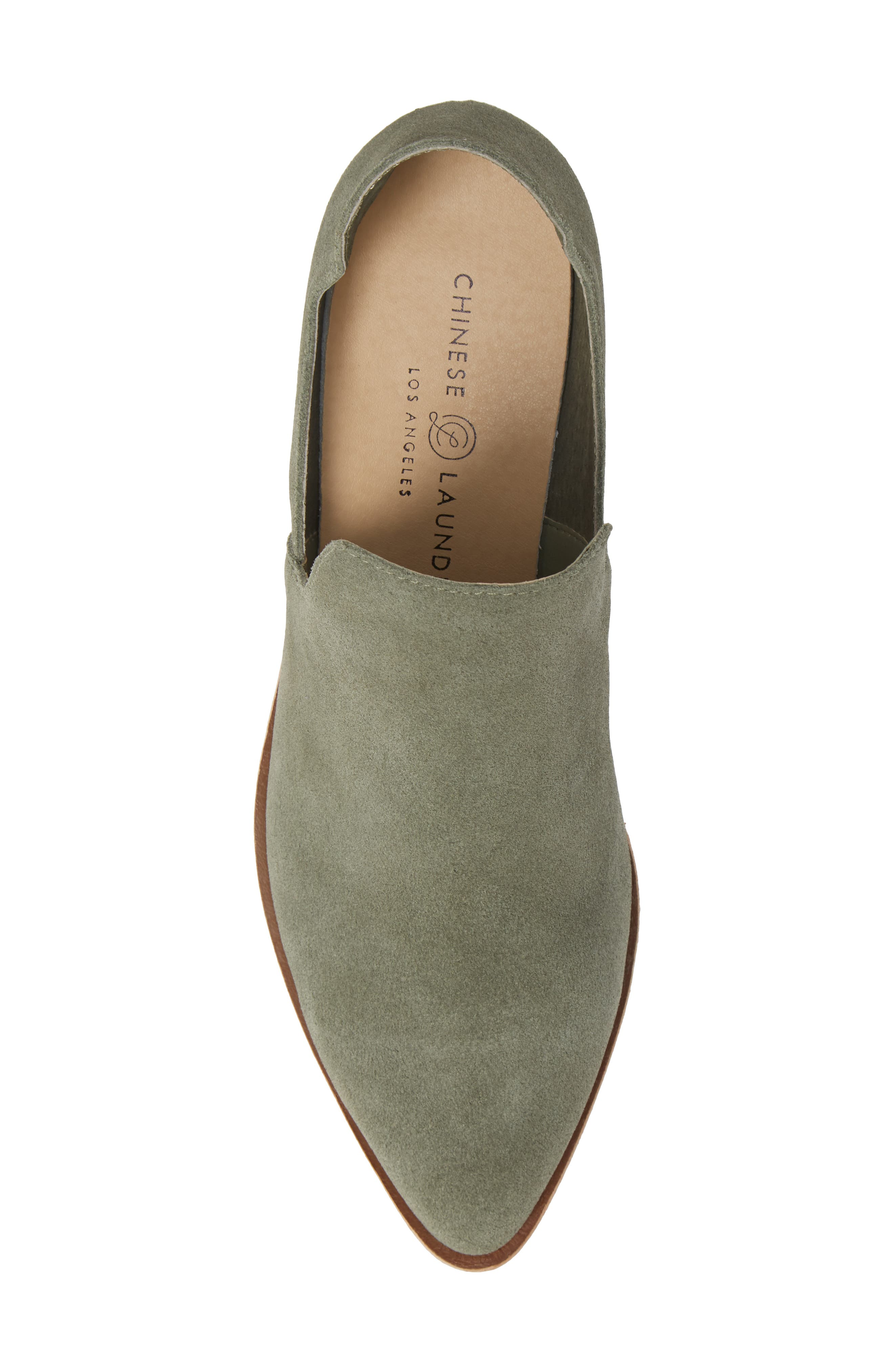 Focus Open Sided Bootie,                             Alternate thumbnail 5, color,                             OLIVE SUEDE