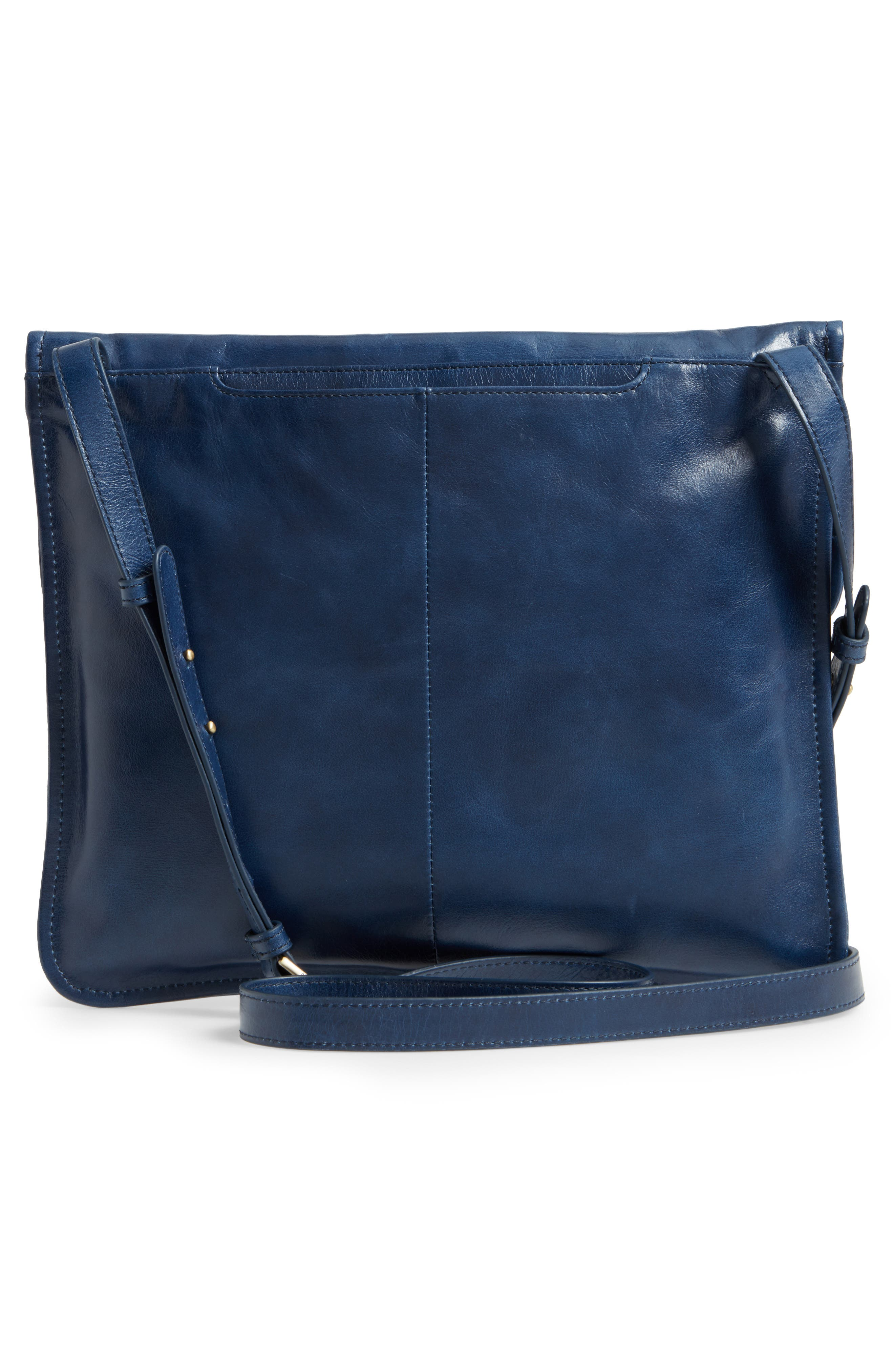 Vista Calfskin Leather Messenger Bag,                             Alternate thumbnail 12, color,