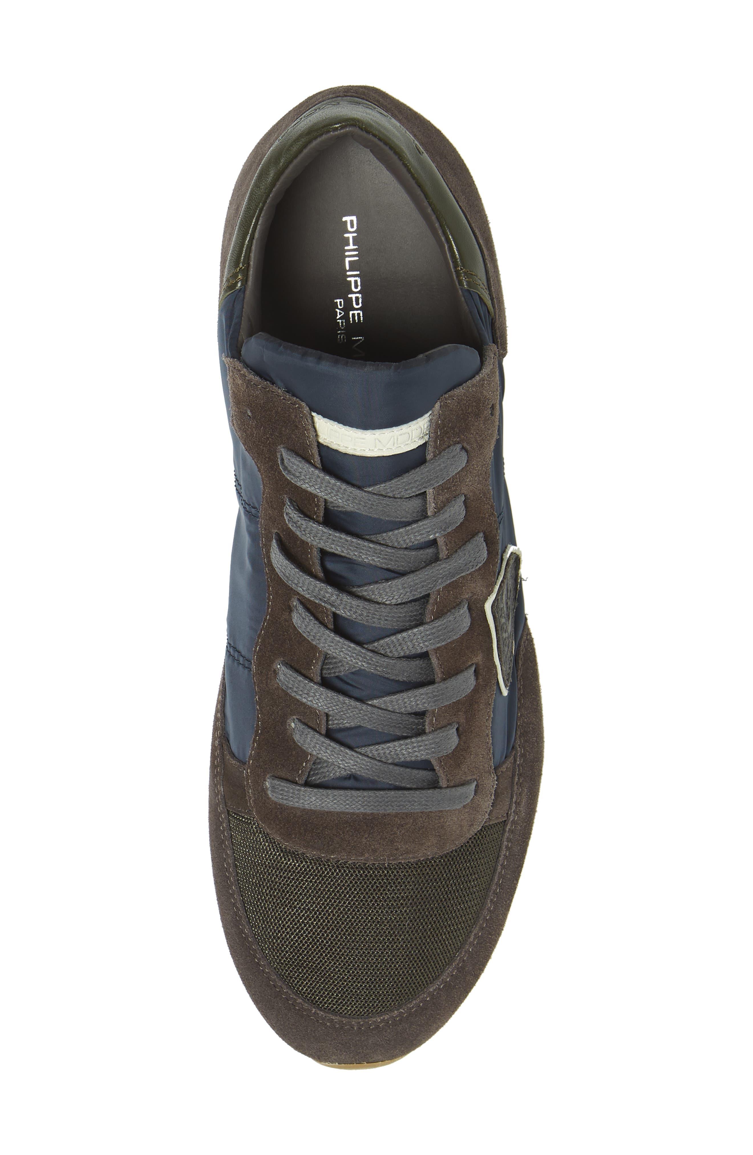 Tropez Low Top Sneaker,                             Alternate thumbnail 5, color,                             BLUE/ GREY