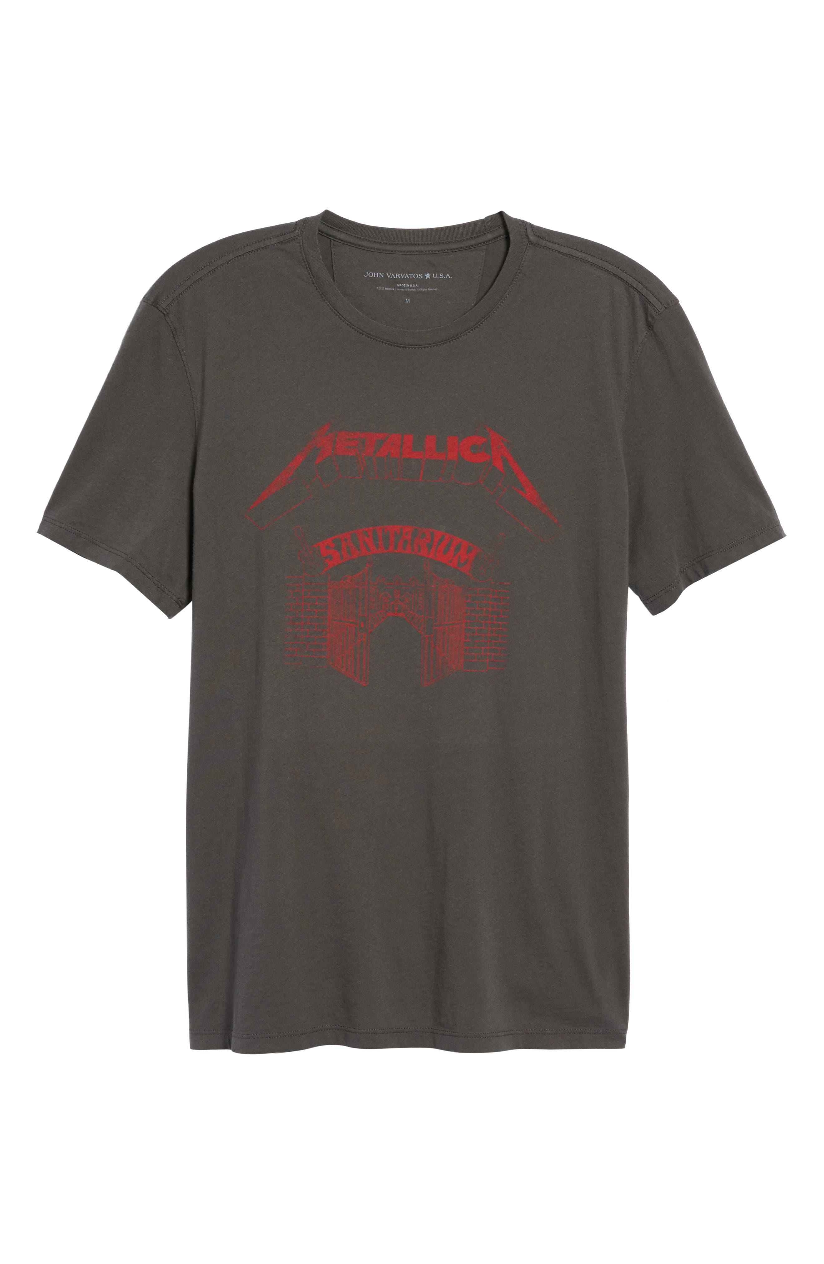 Metallica Sanitarium Graphic T-Shirt,                             Alternate thumbnail 6, color,                             013