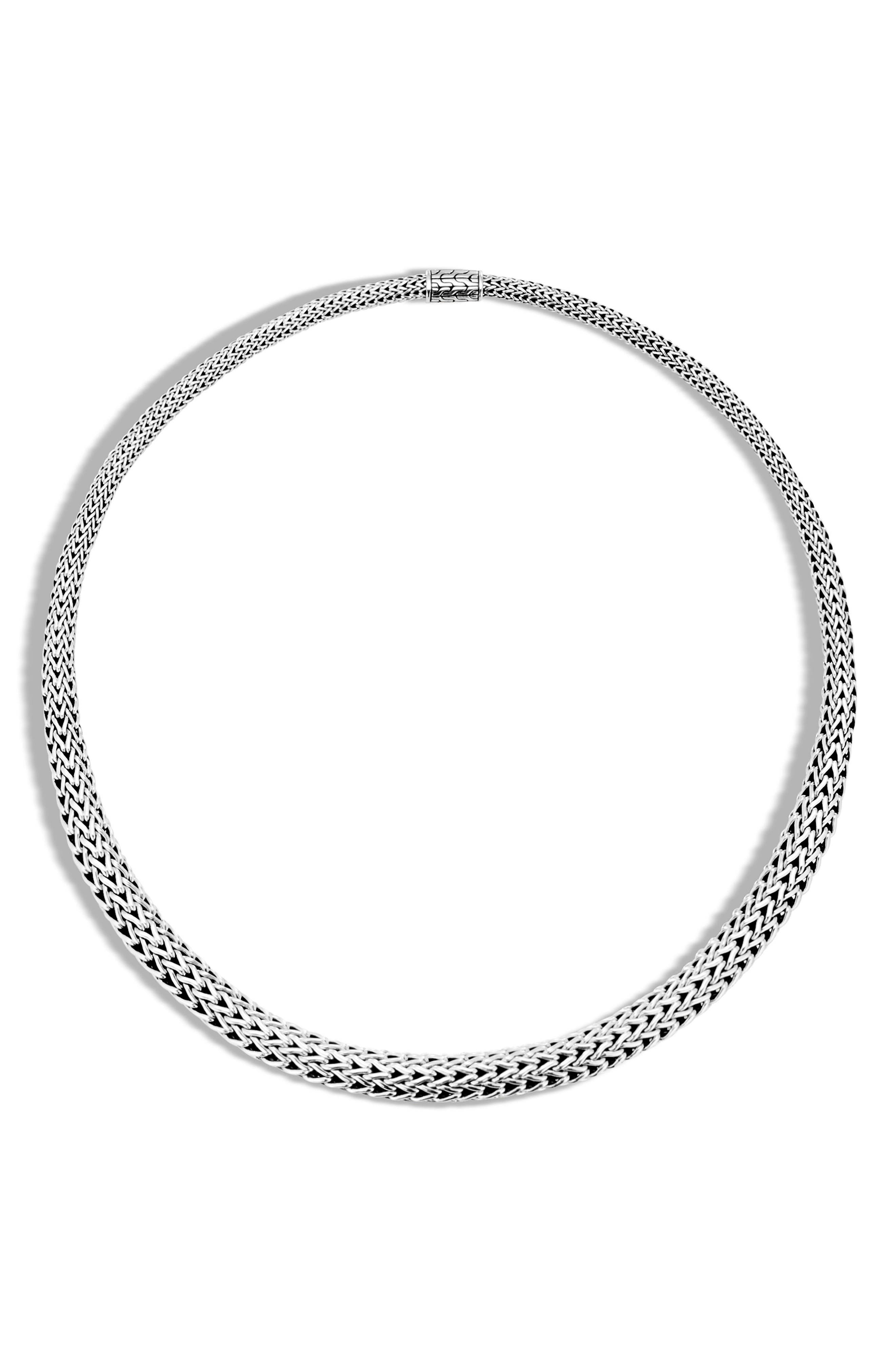 Classic Chain Collar Necklace,                         Main,                         color, SILVER