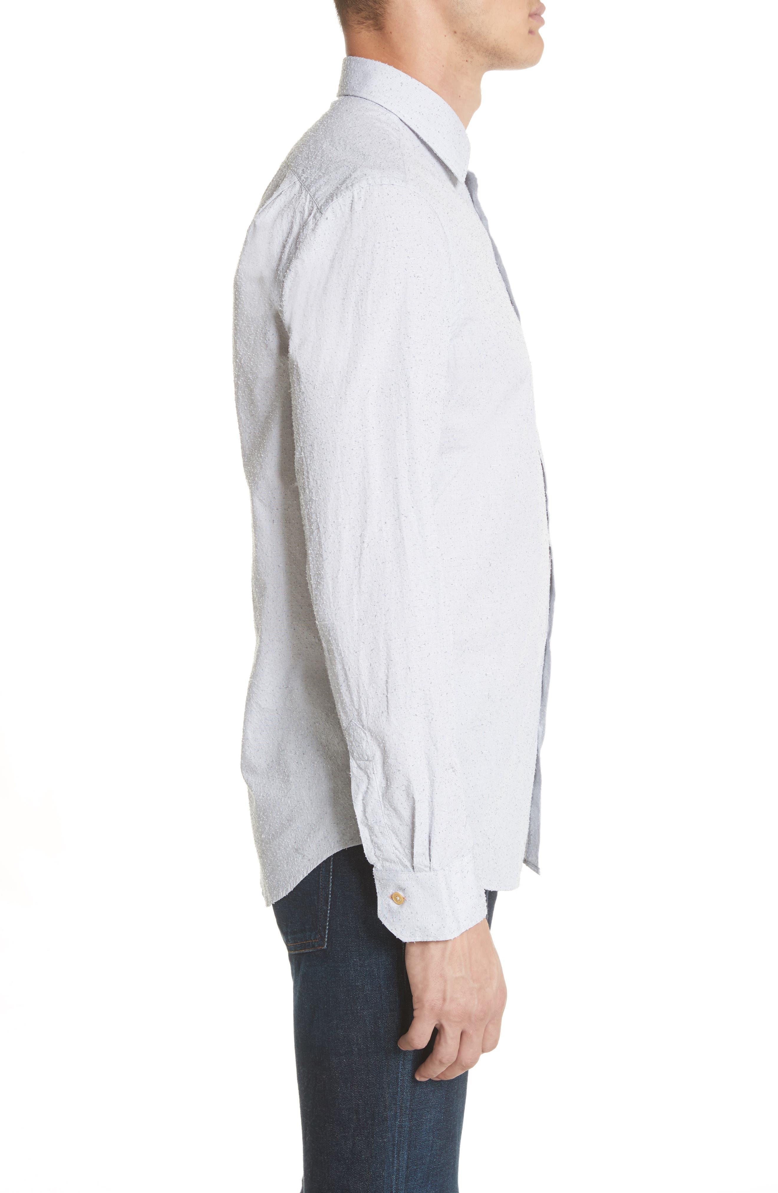 Nep Dot Woven Shirt,                             Alternate thumbnail 3, color,