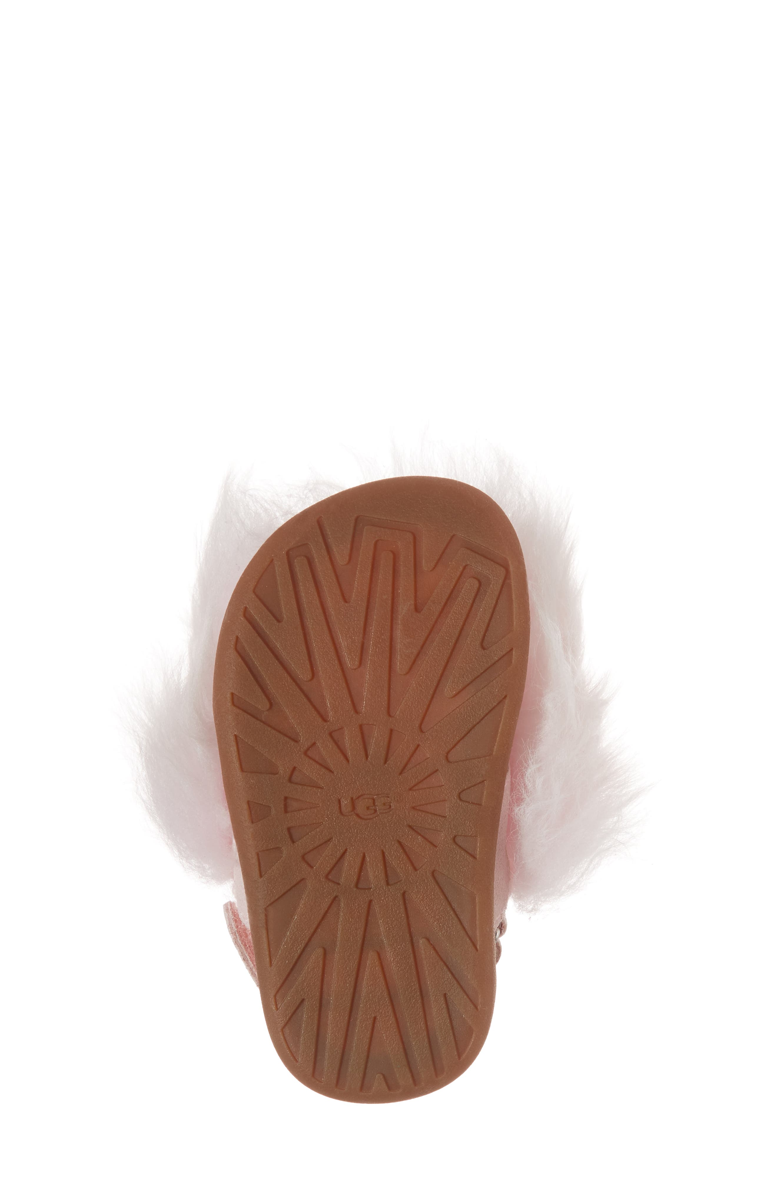 Holly Genuine Shearling Sandal,                             Alternate thumbnail 6, color,                             SEASHELL PINK