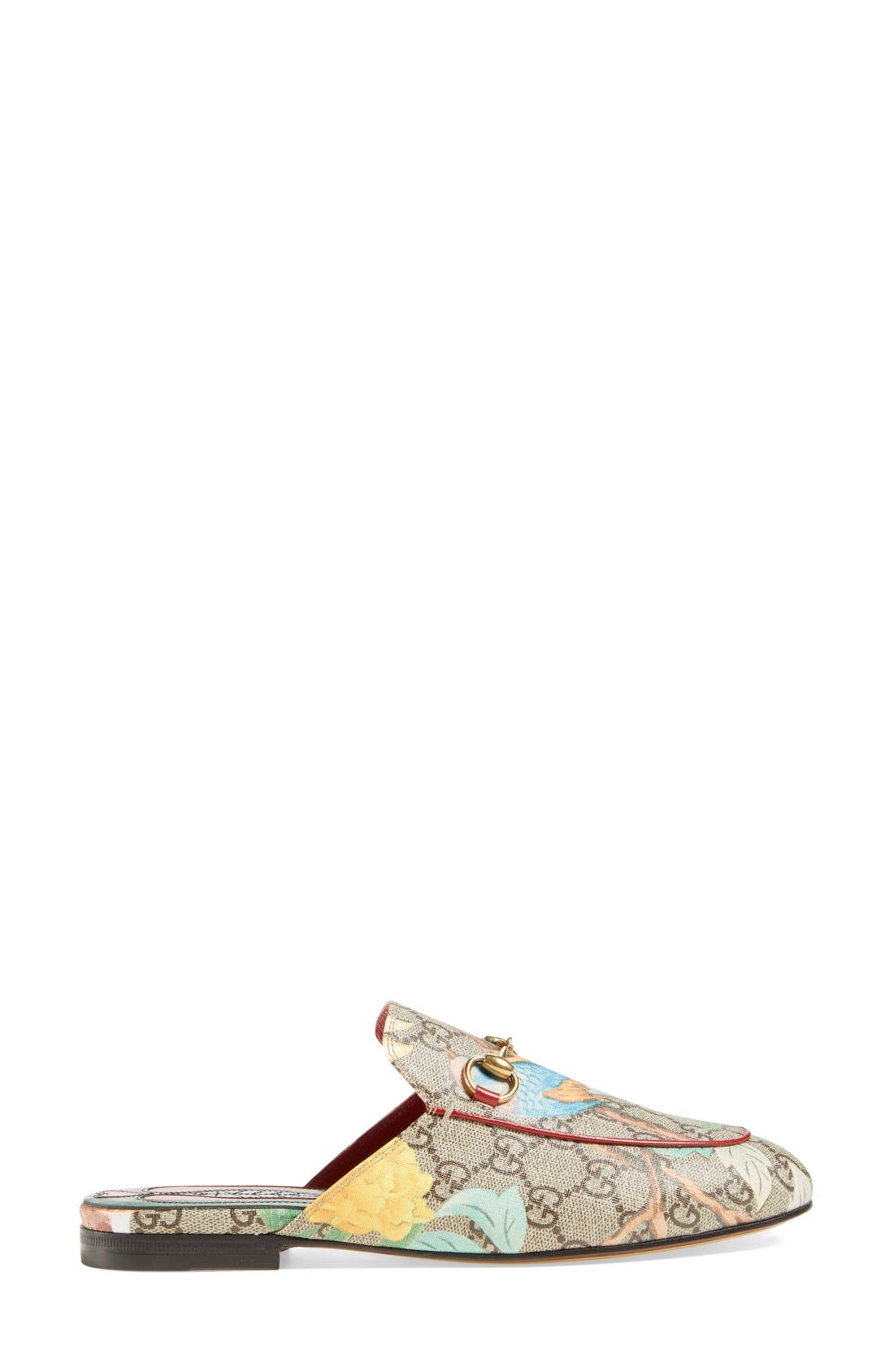 'Princetown' Floral Print Mule Loafer,                             Alternate thumbnail 2, color,