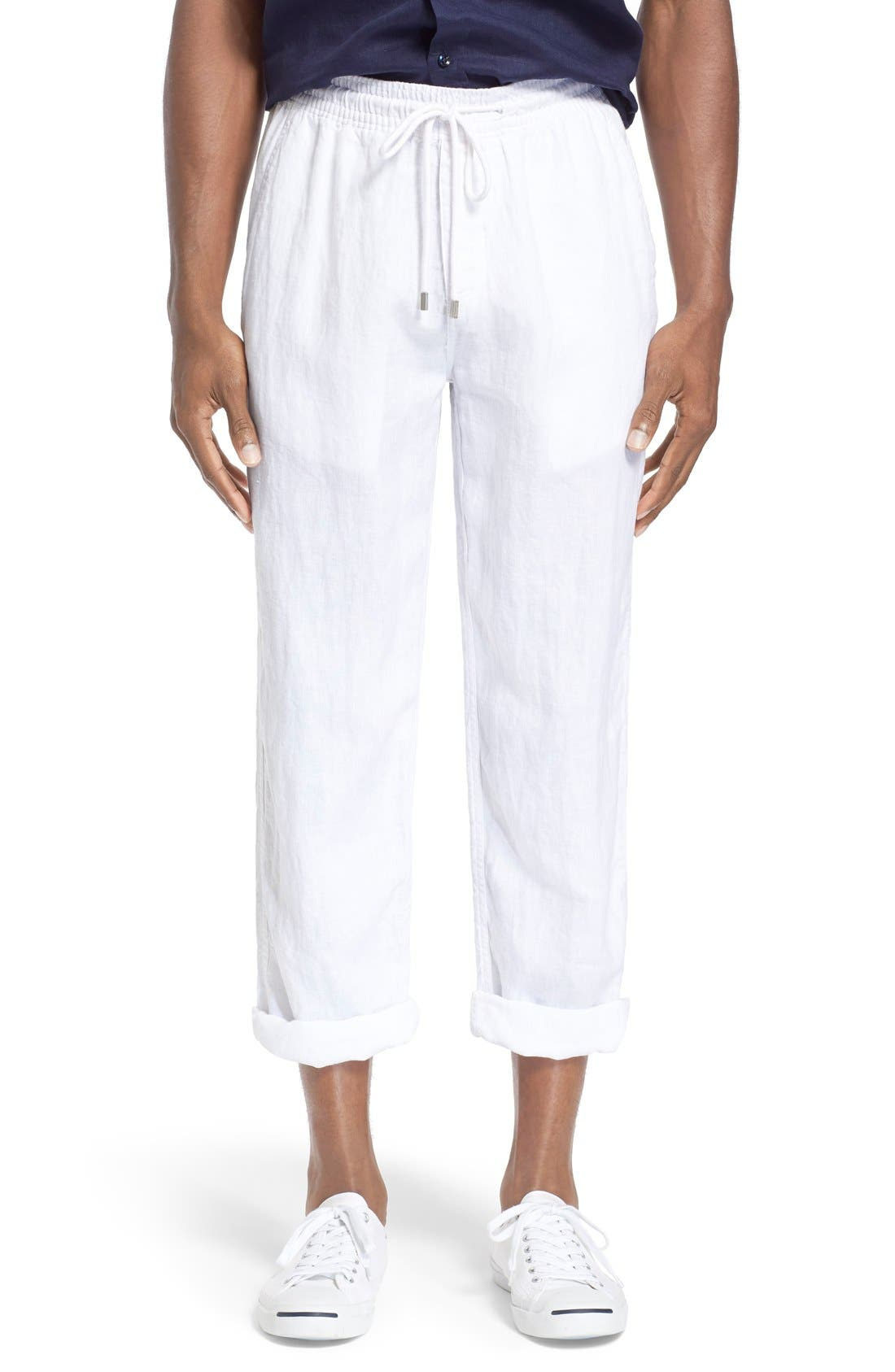 'Pacha' Linen Pants,                             Main thumbnail 1, color,                             100