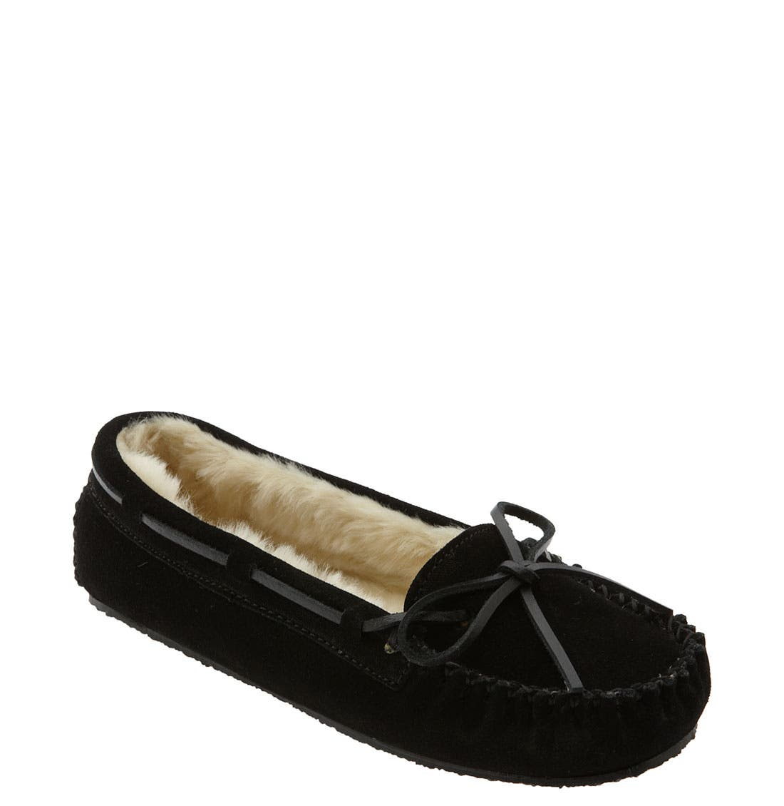 'Cally' Slipper,                             Main thumbnail 1, color,                             BLACK SUEDE