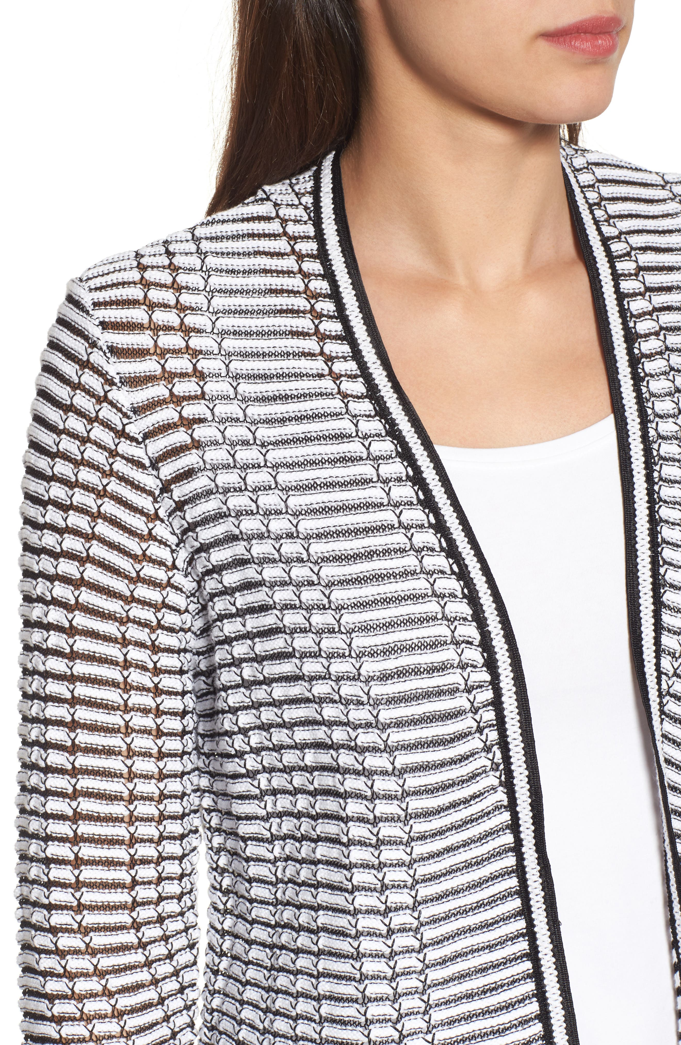 Striped Space Cardigan,                             Alternate thumbnail 4, color,                             055