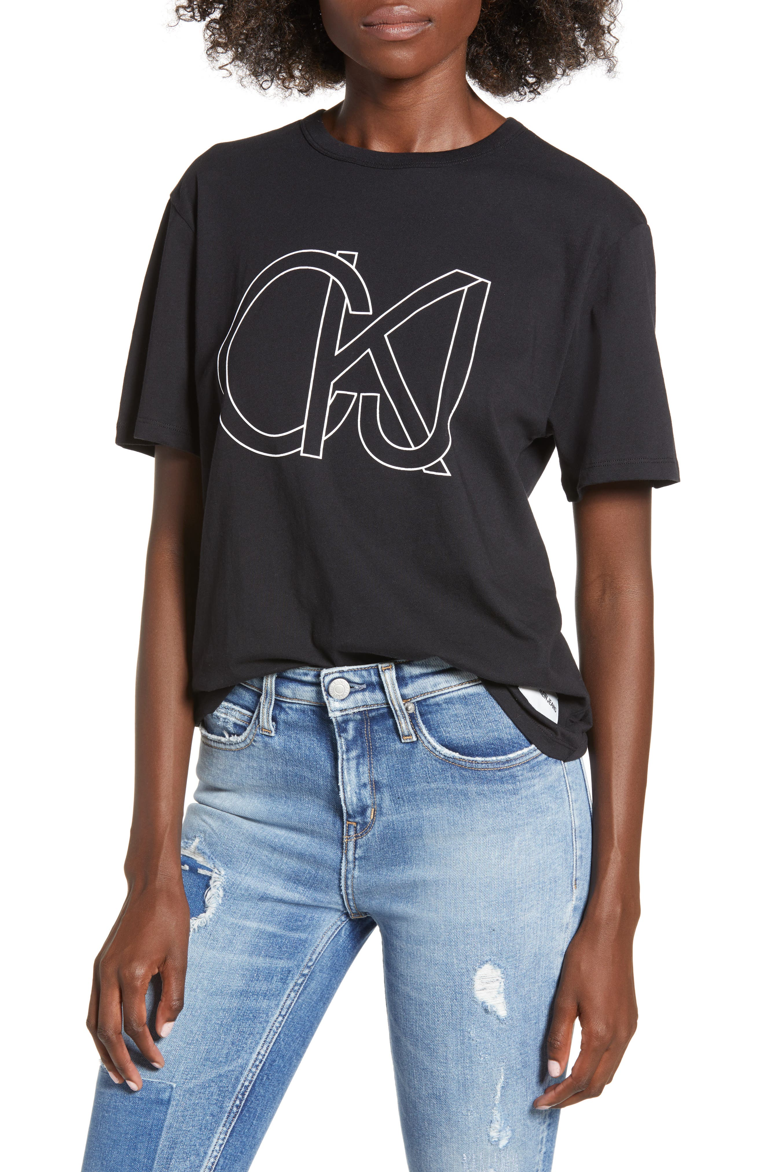 Easy Graphic Tee,                             Main thumbnail 1, color,                             001