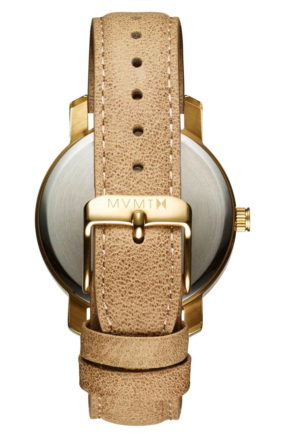 Leather Strap Watch, 38mm,                             Alternate thumbnail 2, color,                             200