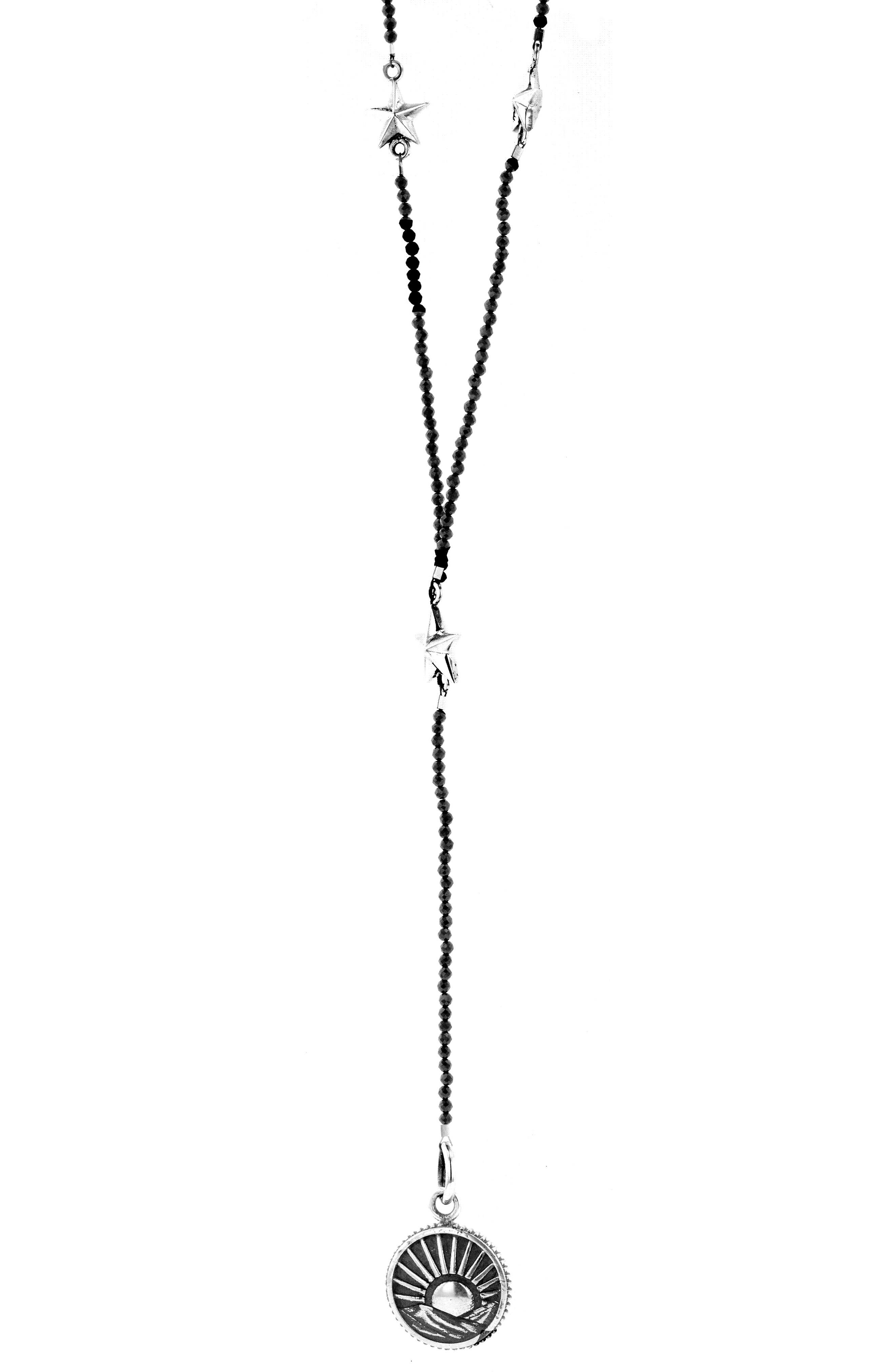 KING BABY Sun Rosary Necklace, Main, color, SILVER