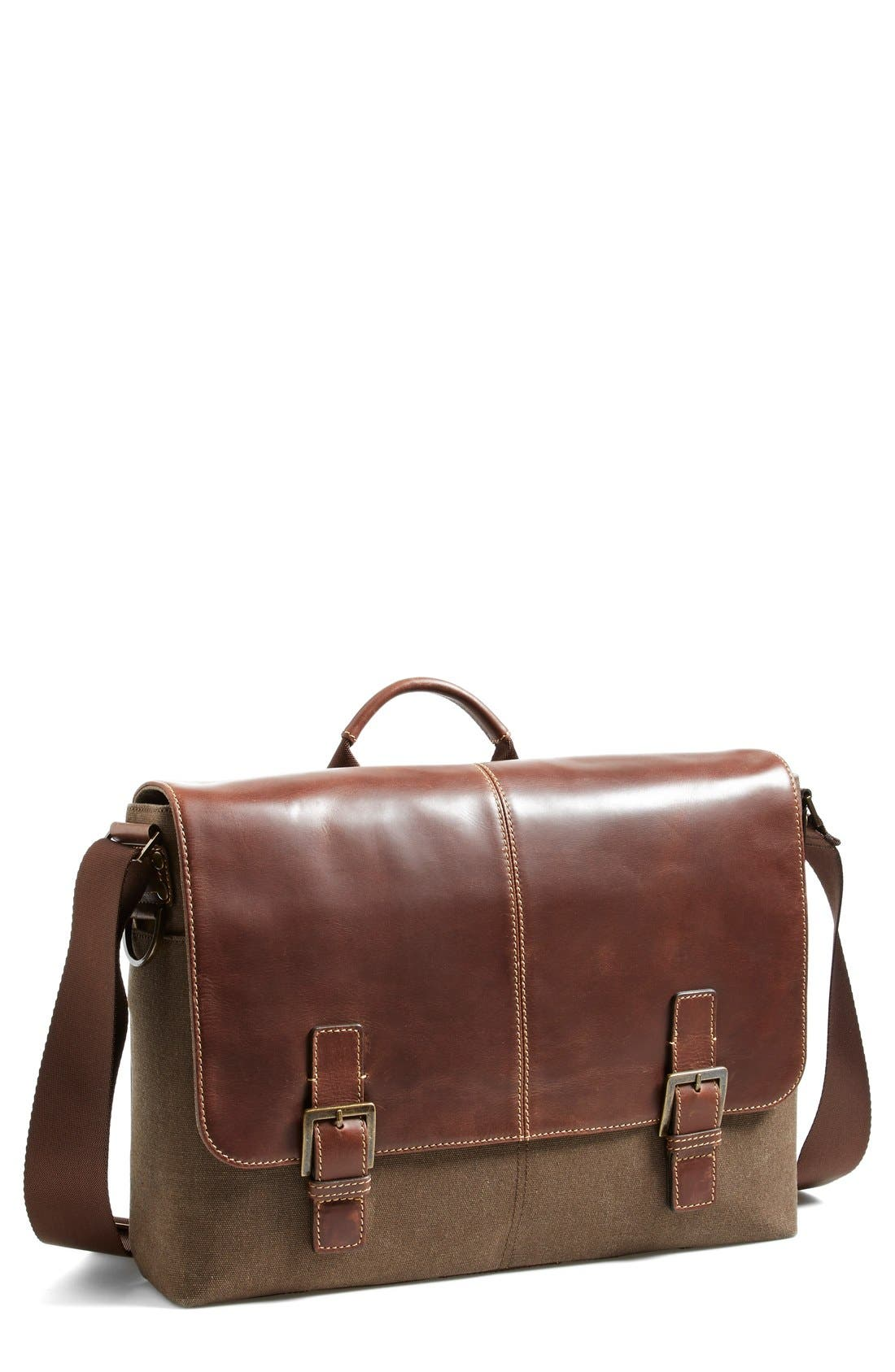 'Bryant' Messenger Bag,                         Main,                         color, HEATHER BROWN
