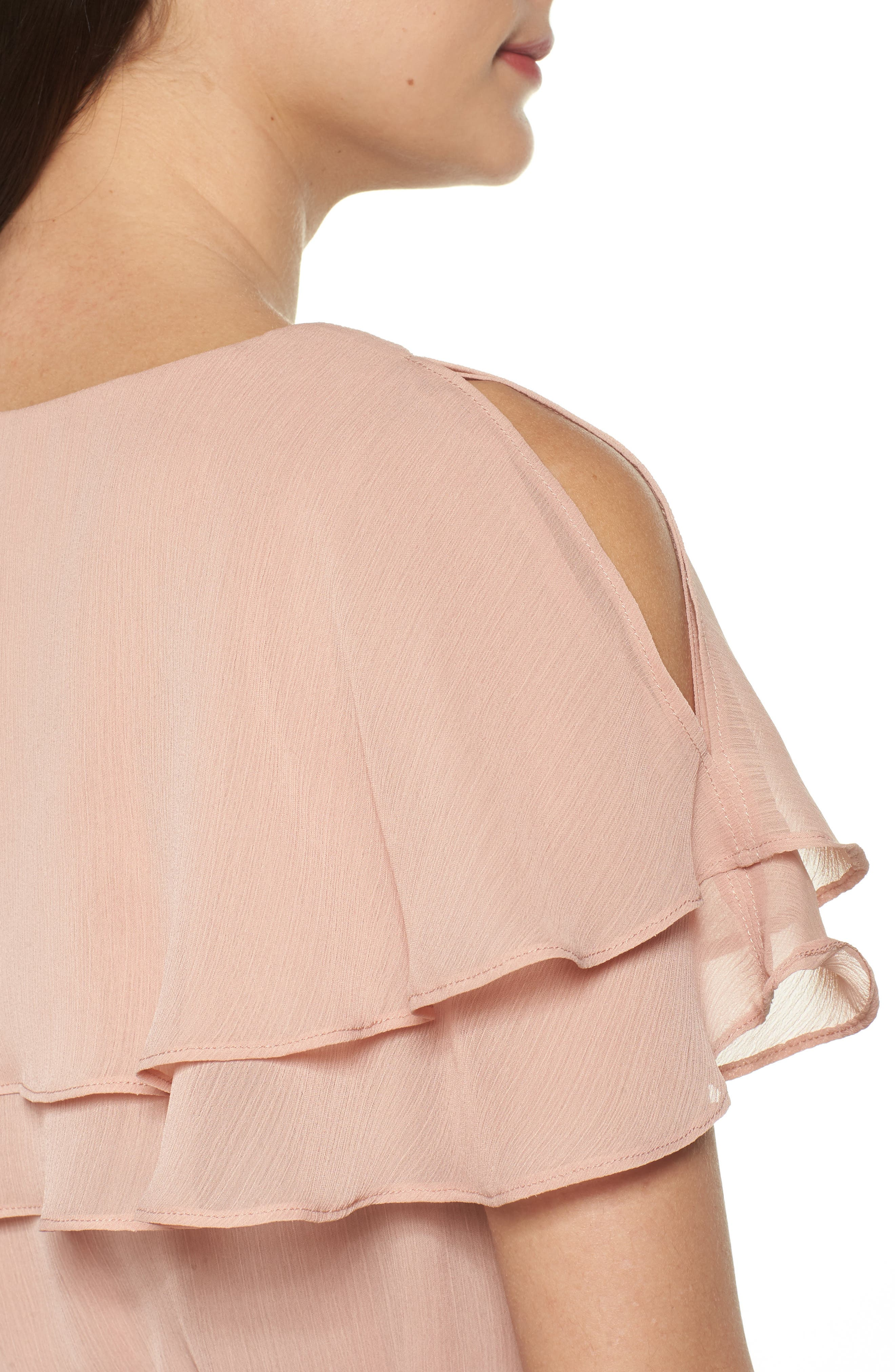 Split Sleeve Ruffle Maxi Dress,                             Alternate thumbnail 4, color,                             682