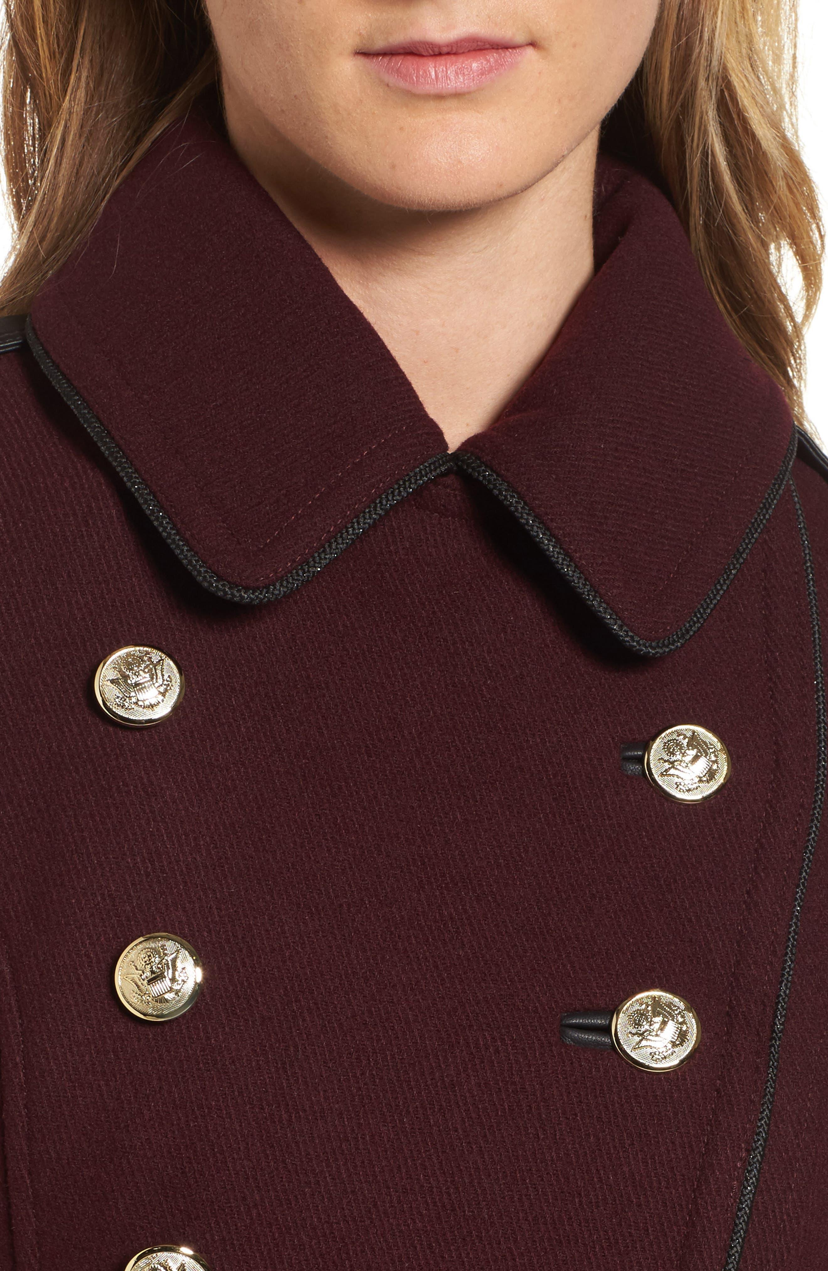 Wool Blend Military Coat,                             Alternate thumbnail 8, color,