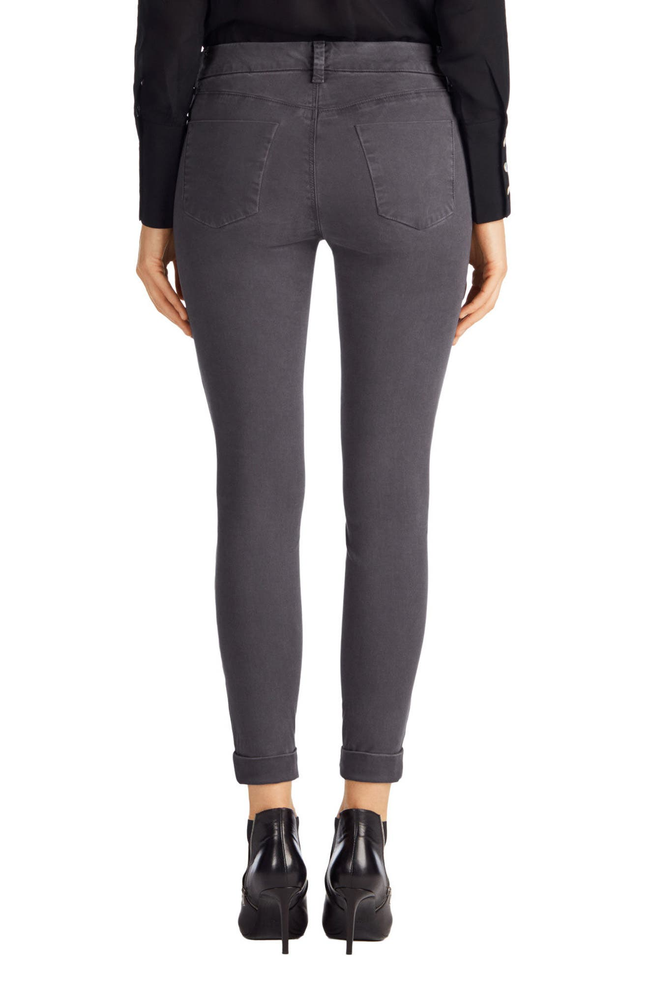 'Anja' Cuffed Crop Skinny Jeans,                             Alternate thumbnail 19, color,