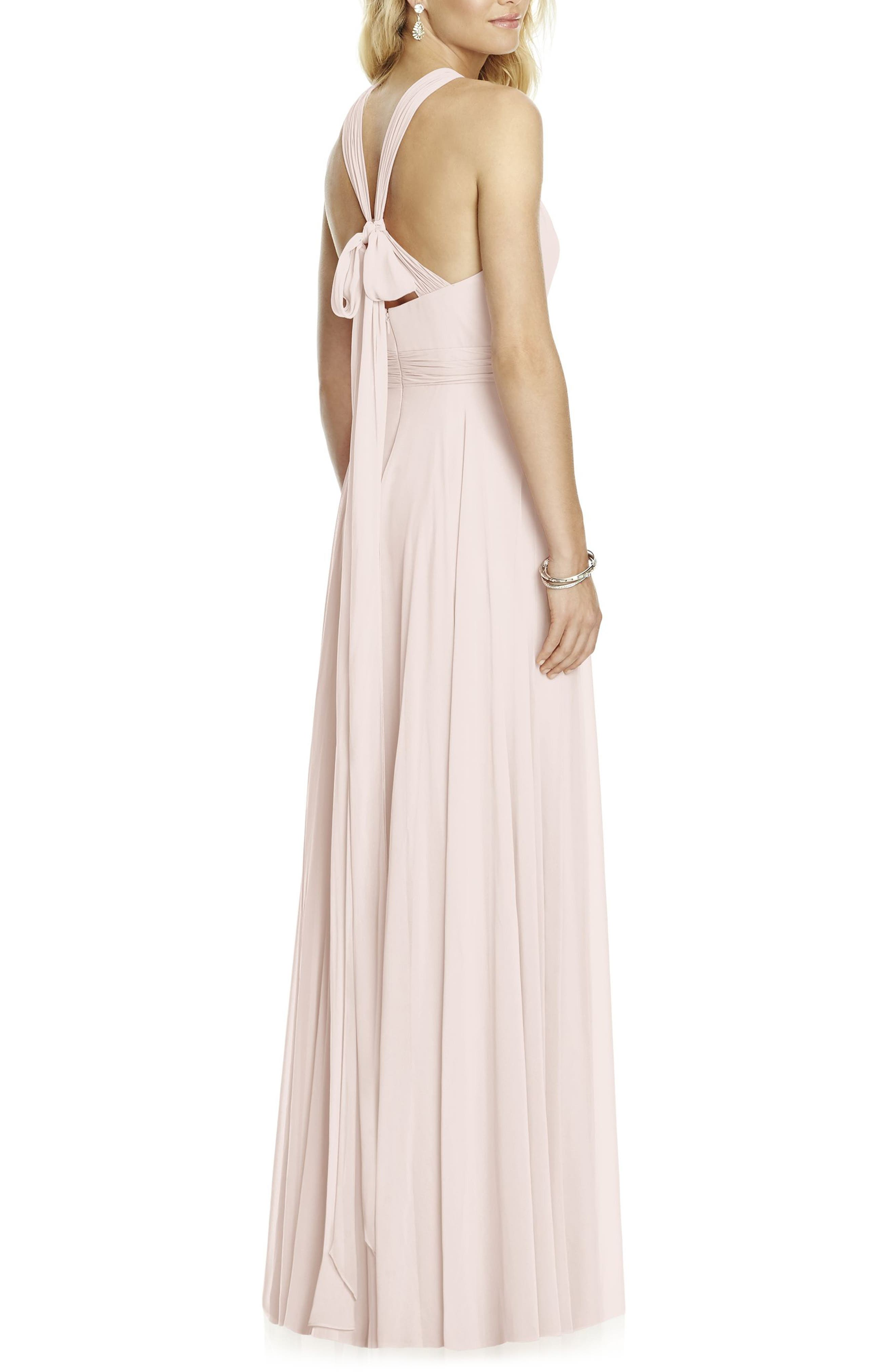 Chiffon A-Line Gown,                             Alternate thumbnail 2, color,                             BLUSH