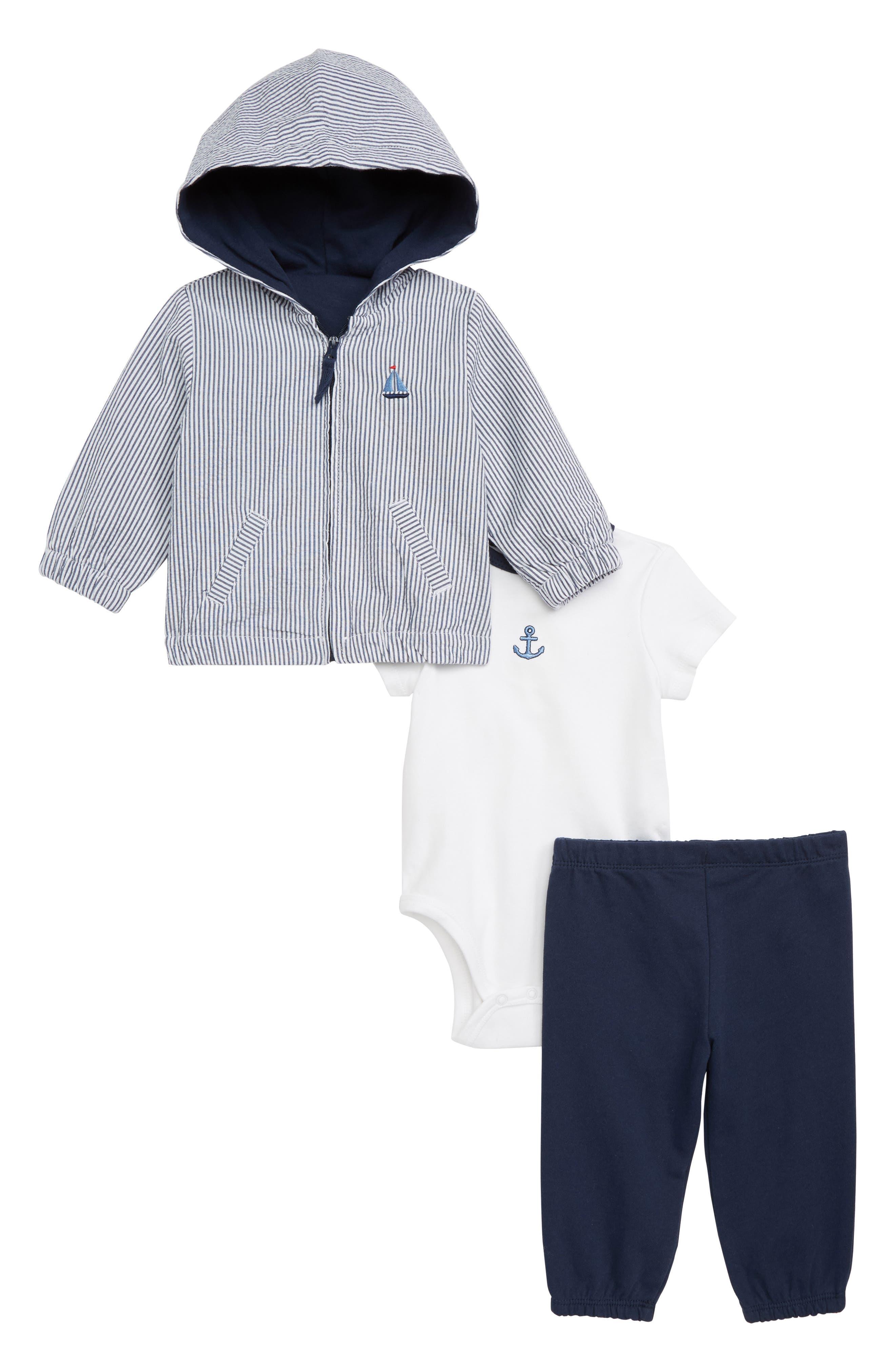 Sails Jacket, Bodysuit & Pants Set, Main, color, BLUE