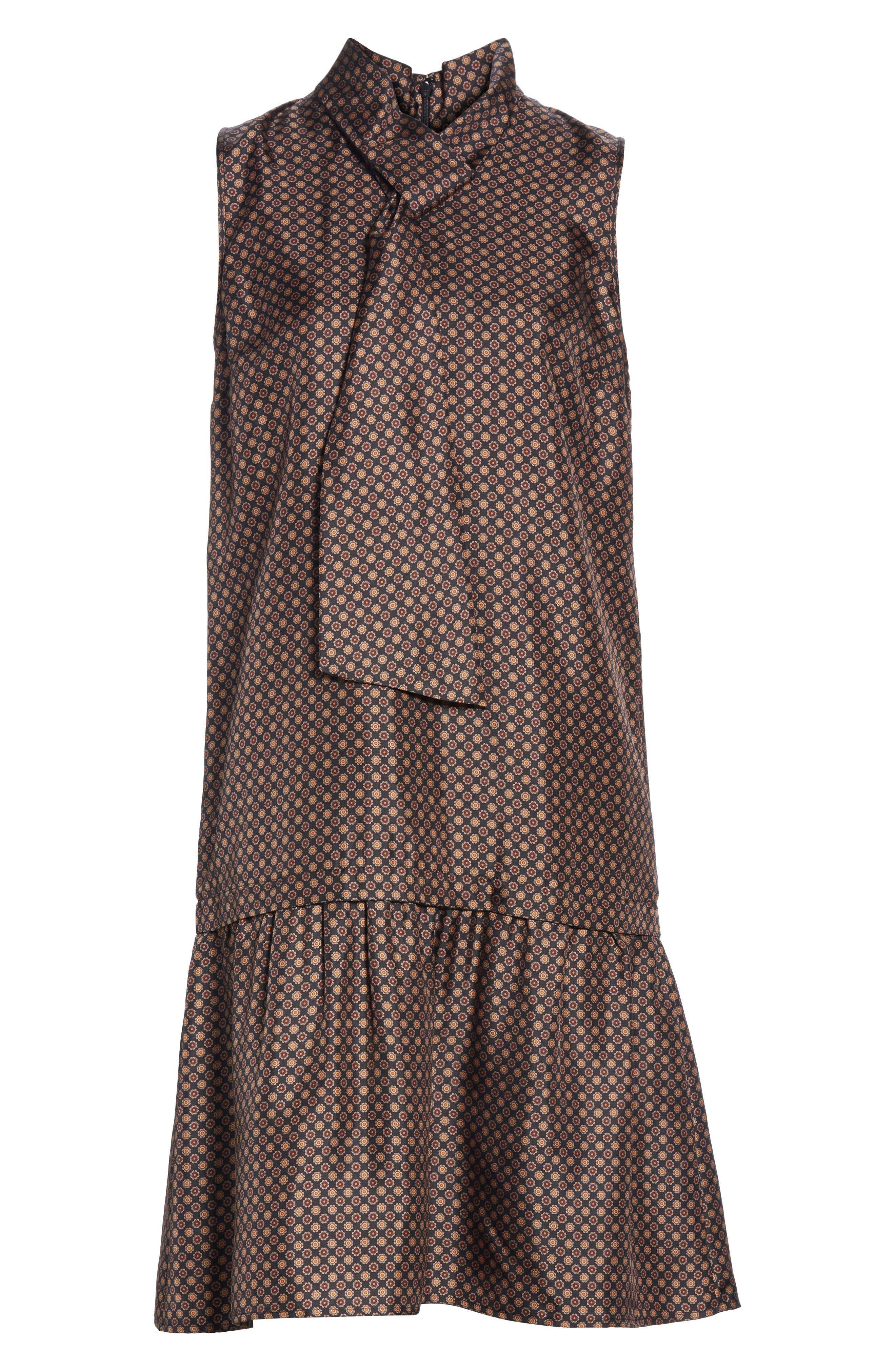 Abbie Silk Dress,                             Alternate thumbnail 7, color,                             INK MULTI
