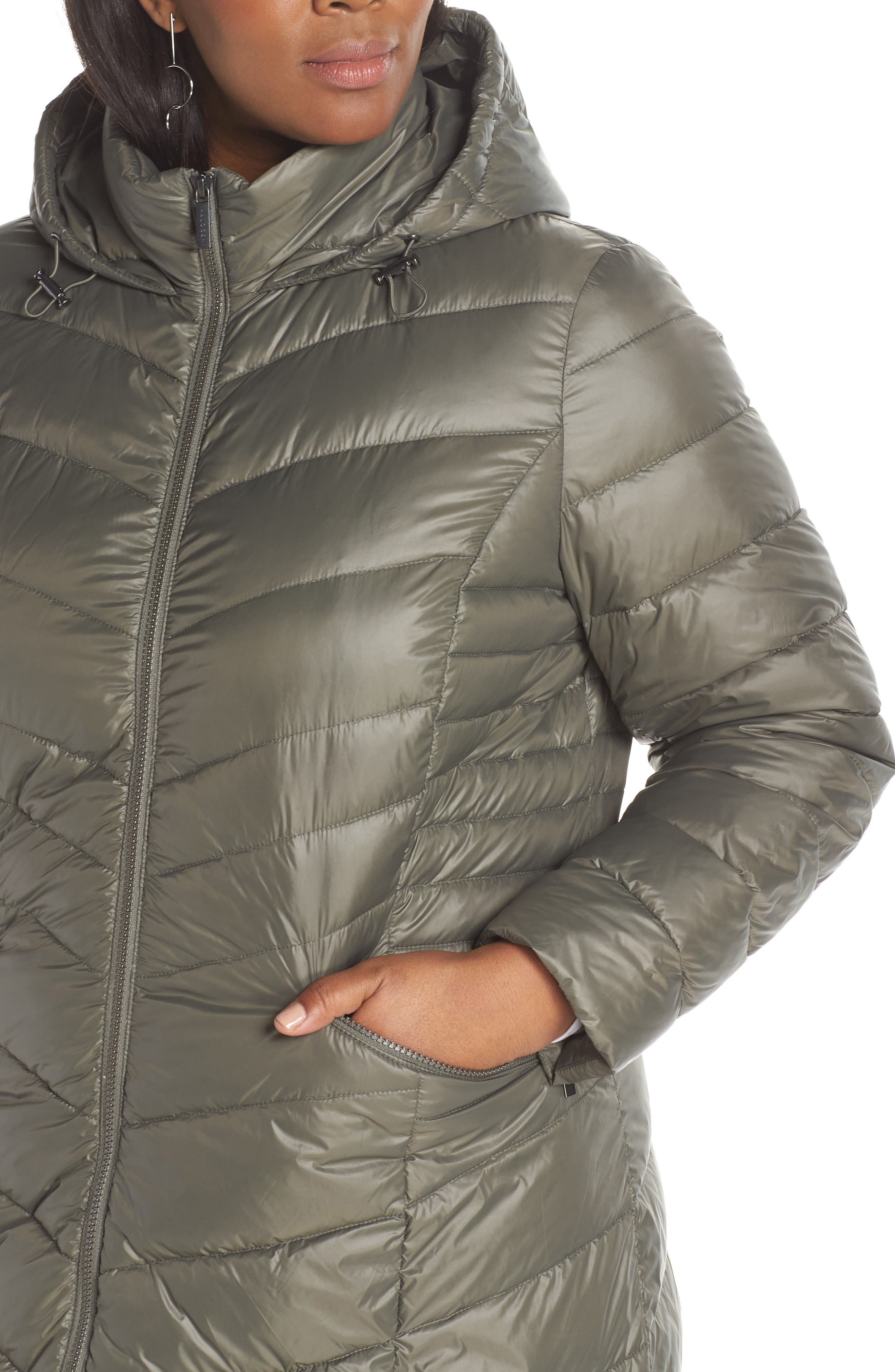 HALOGEN<SUP>®</SUP>,                             Hooded Puffer Jacket,                             Alternate thumbnail 4, color,                             030