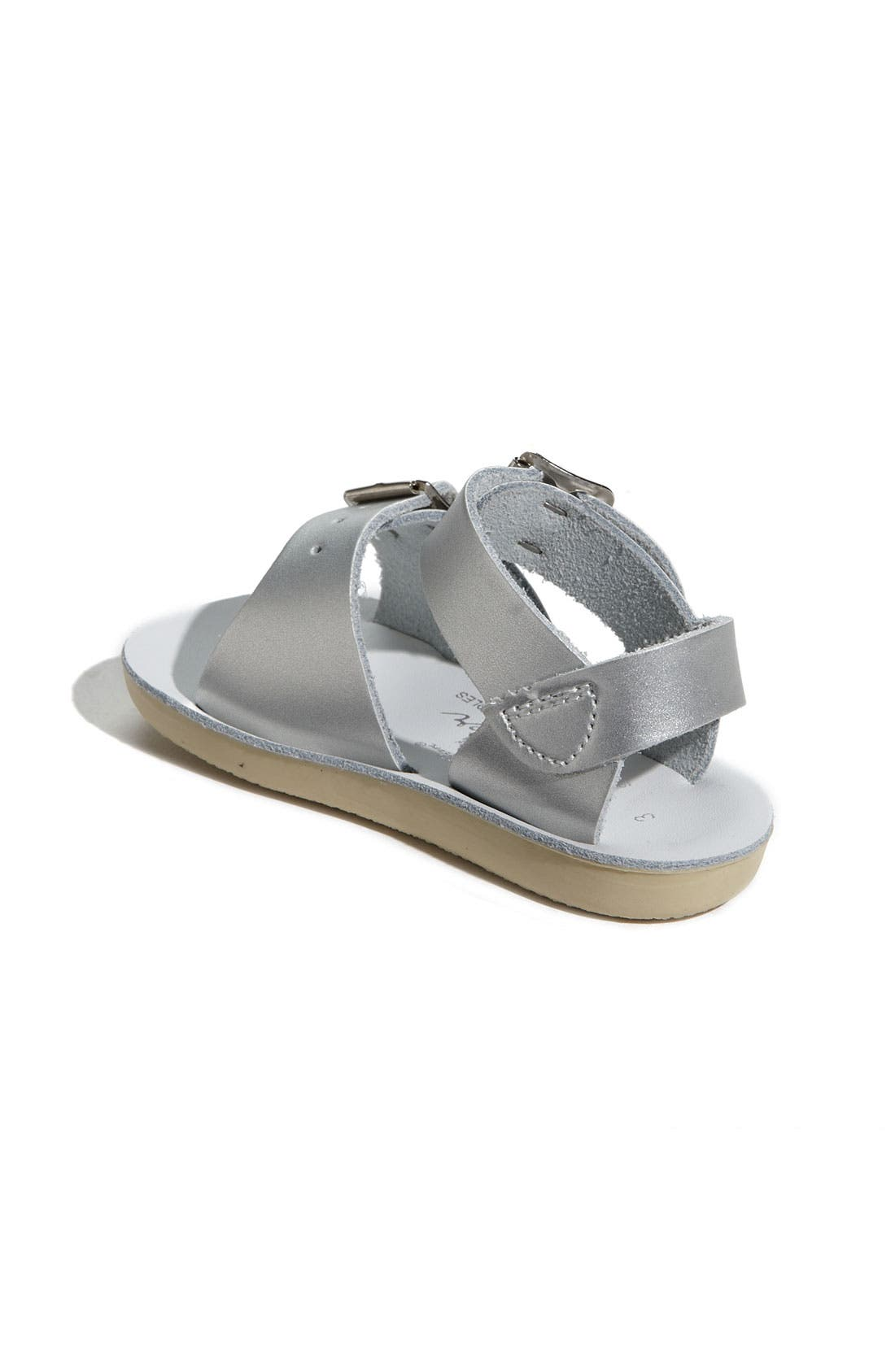Surfer Water Friendly Sandal,                             Alternate thumbnail 7, color,                             SILVER