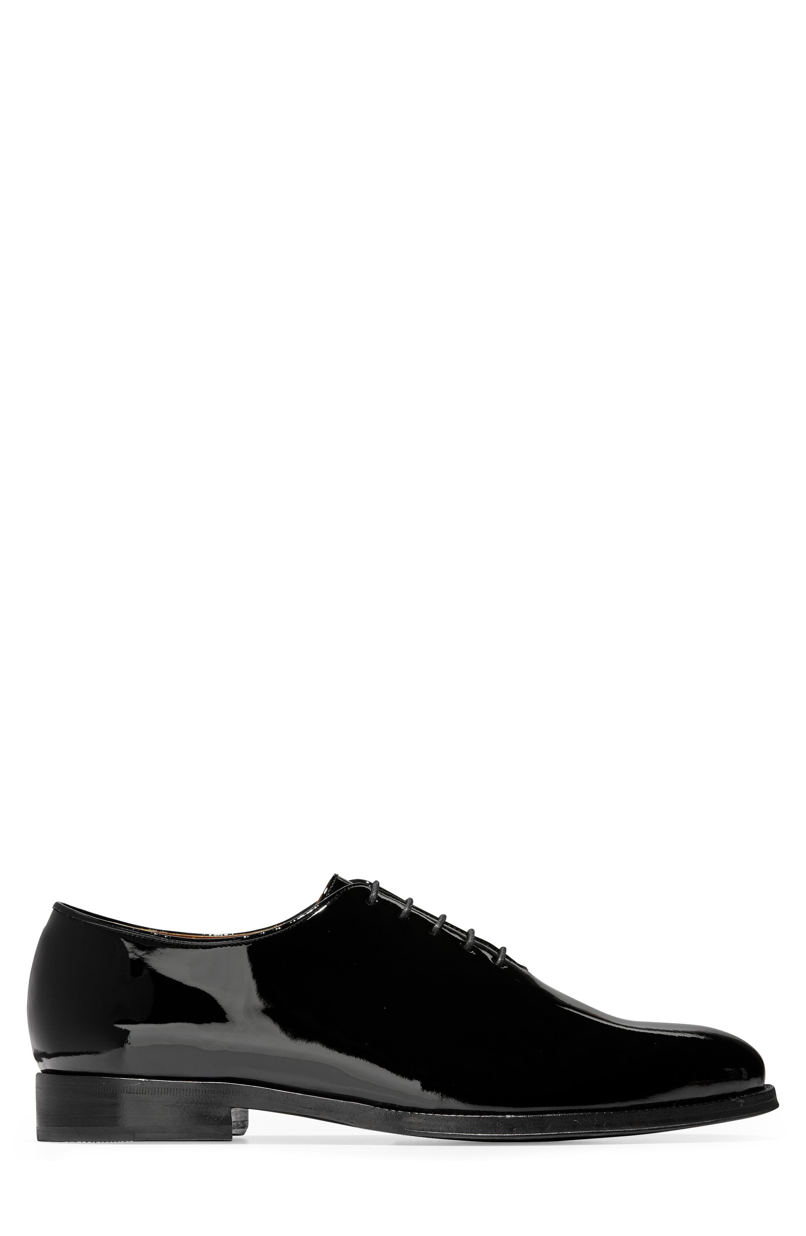 American Classics Grammercy Whole Cut Shoe,                             Alternate thumbnail 3, color,                             BLACK PATENT LEATHER