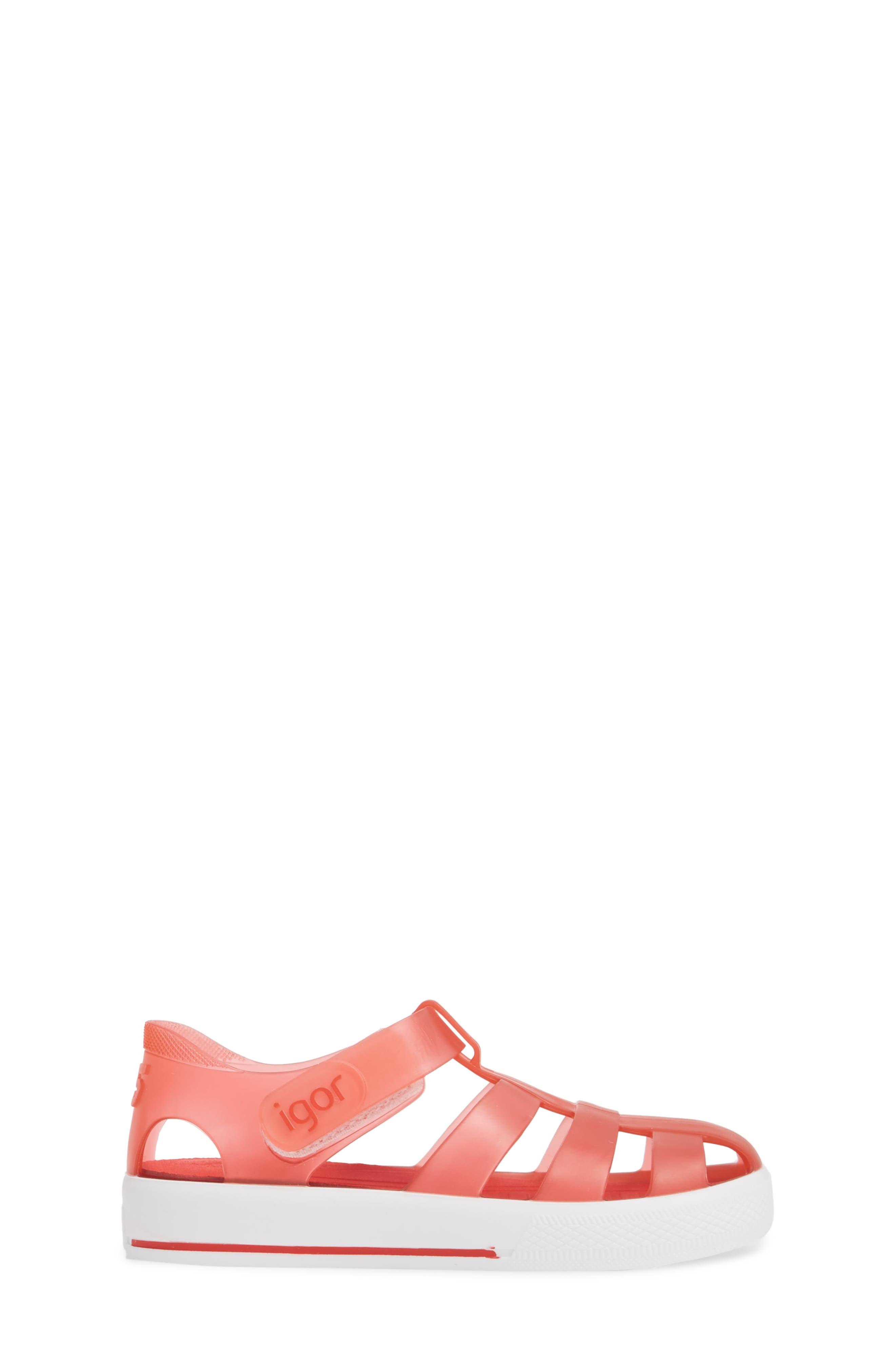 'Star' Glitter Jelly Fisherman Sandal,                             Alternate thumbnail 12, color,