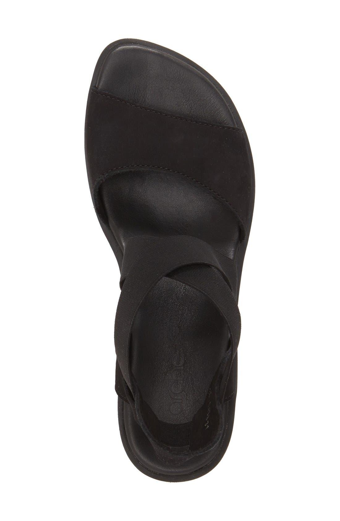 'Satia' Sandal,                             Alternate thumbnail 3, color,                             BLACK NUBUCK LEATHER