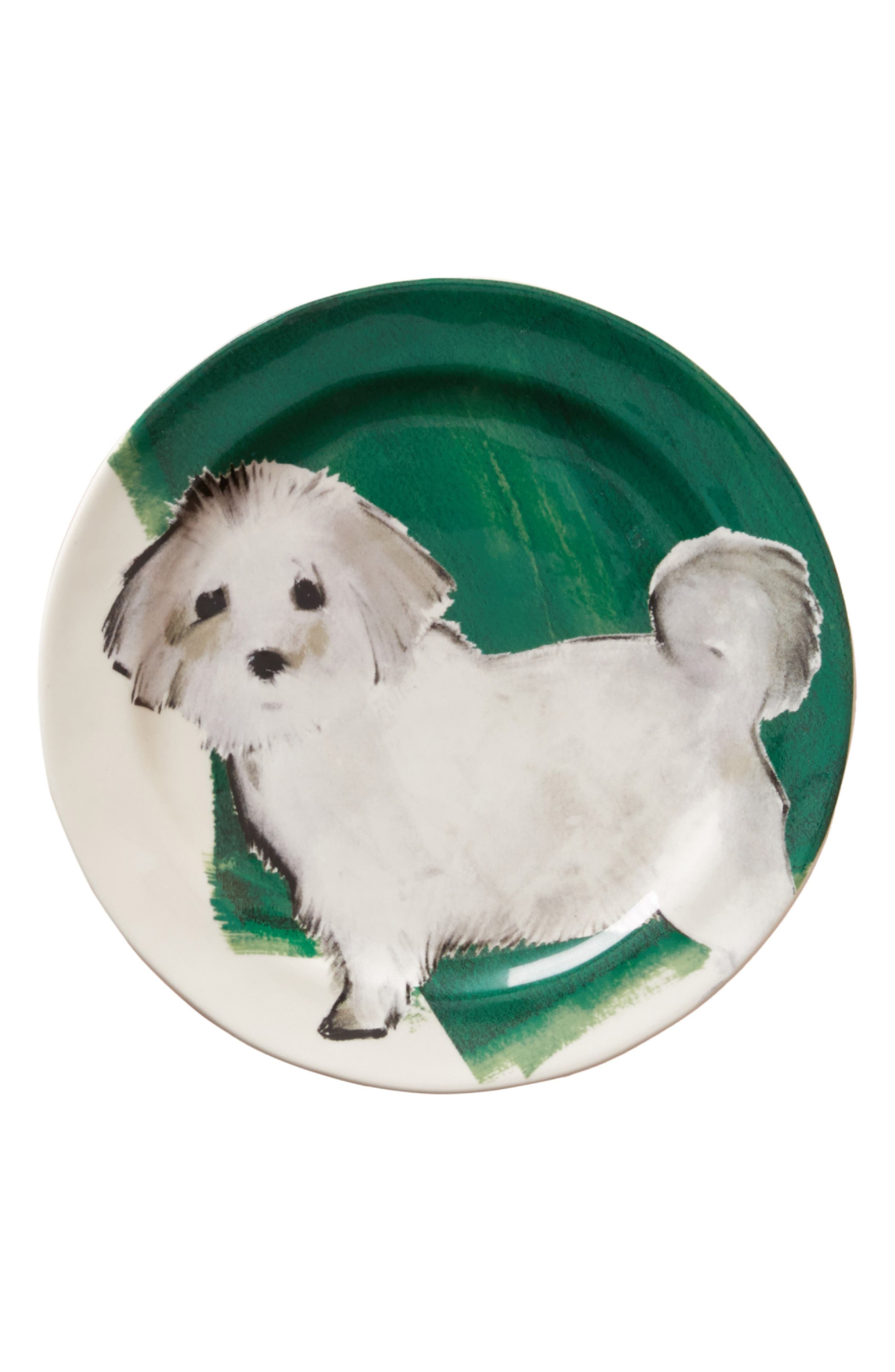 Dog-a-Day Stoneware Dessert Plate,                             Alternate thumbnail 3, color,                             300